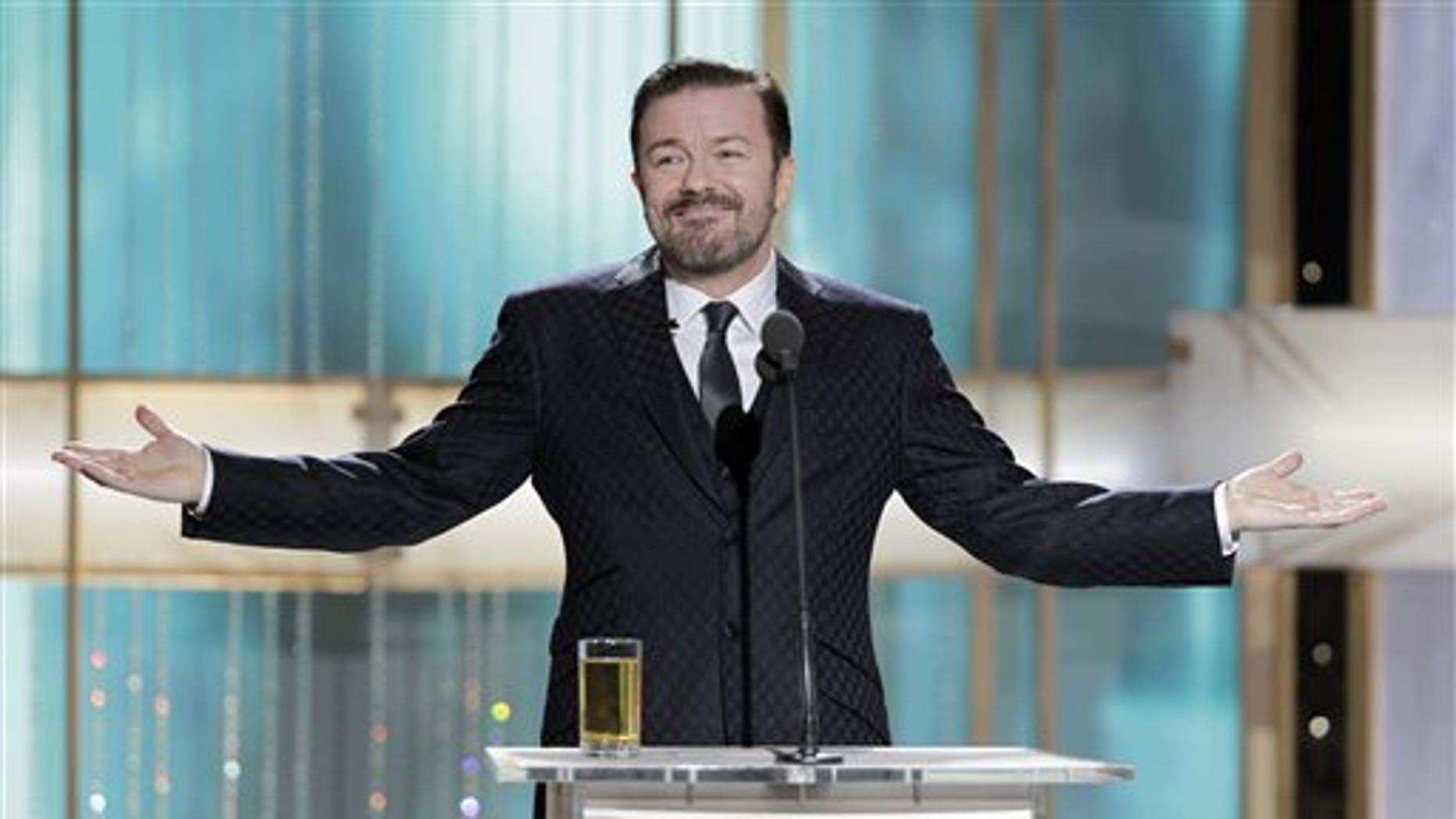 Ricky Gervais. (AP)