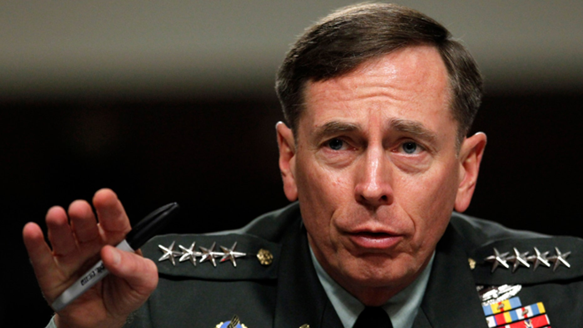 June 29, 2012: In this file photo, Gen. David Petraeus testifies before the Senate Armed Services Committee on Capitol Hill in Washington.