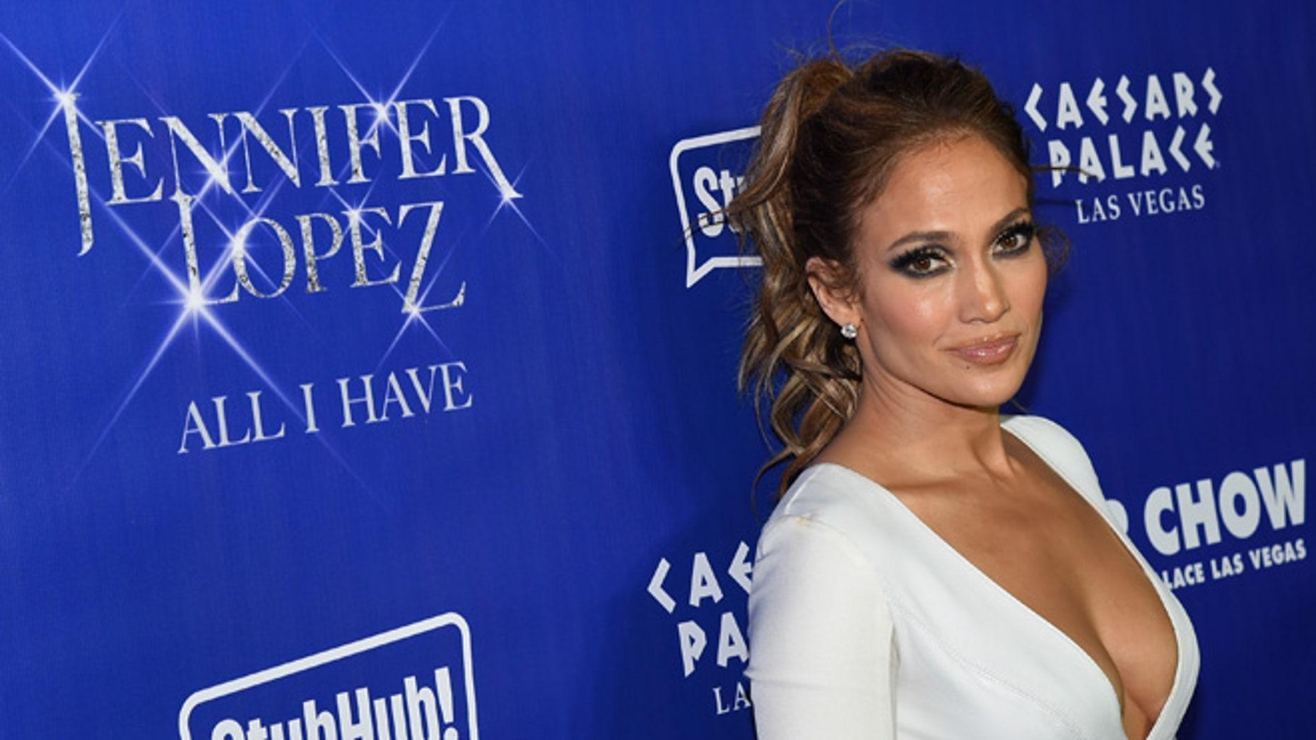 Jennifer Lopez at Caesars Palace on January 21, 2016 in Las Vegas, Nevada.