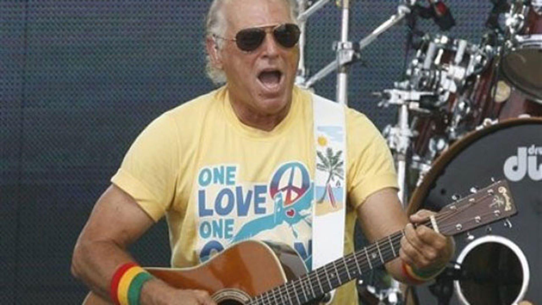 Singer Jimmy Buffett