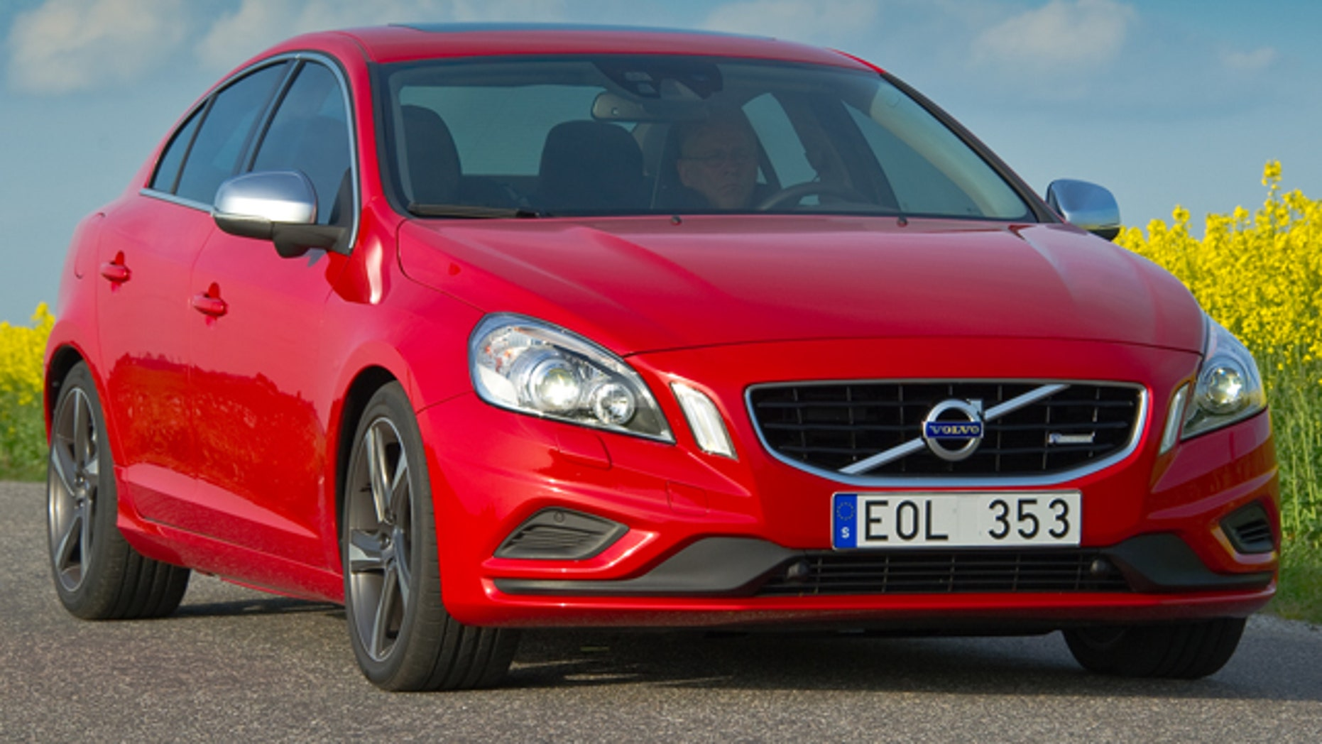 This is a batch print of a Volvo S60 compress oppulance sedan done and marketed by Volvo, a Sweden-based company. It facilities a standard Swedish permit plate.