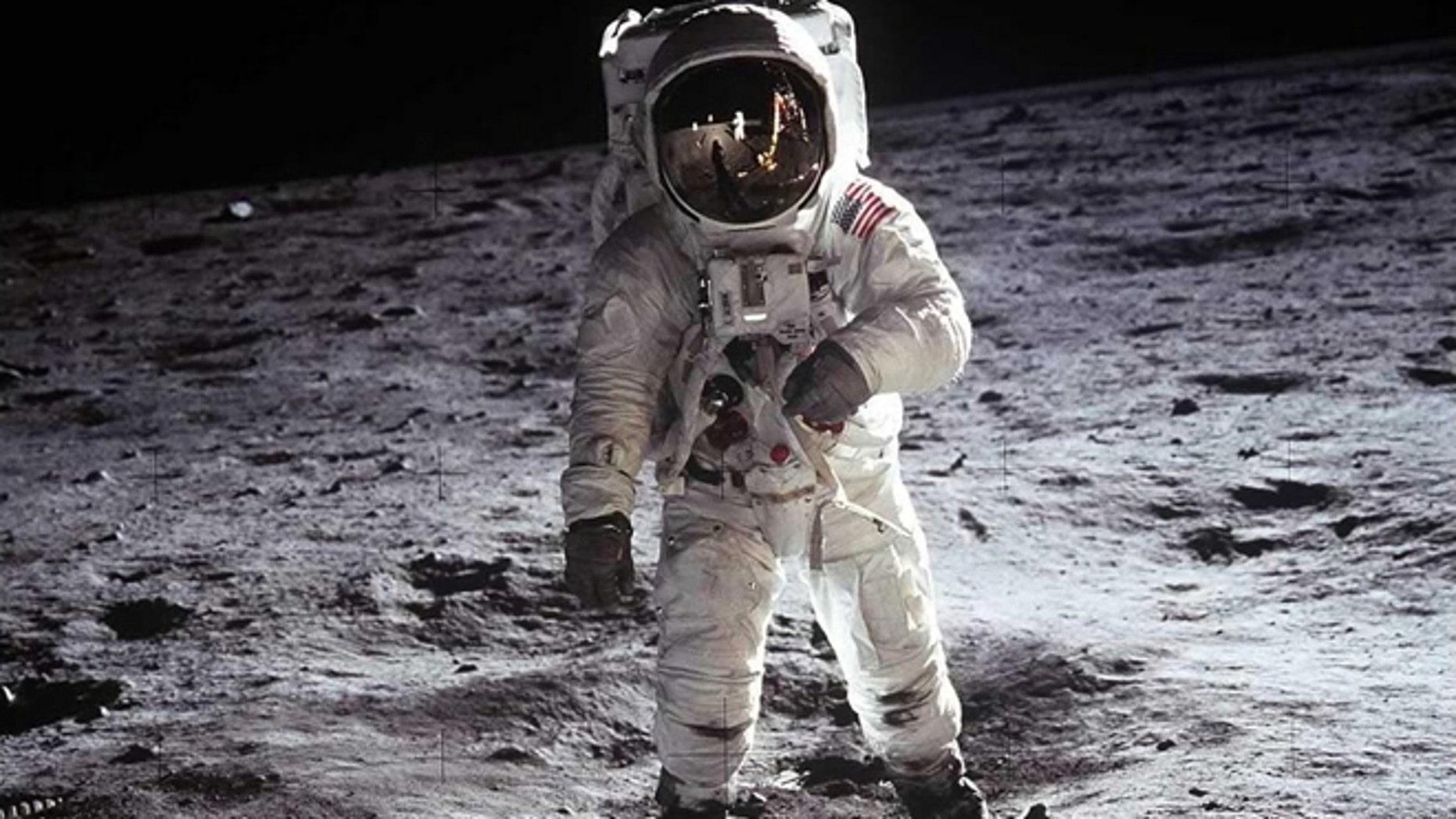 "2. Buzz Aldrin, Apollo 11, 1969: Astronaut Buzz Aldrin, lunar module pilot, walks on the surface of the Moon near the leg of the Lunar Module ""Eagle"" during the Apollo 11 extravehicular activity (EVA). Astronaut Neil A. Armstrong, commander, took this photograph with a 70mm lunar surface camera."