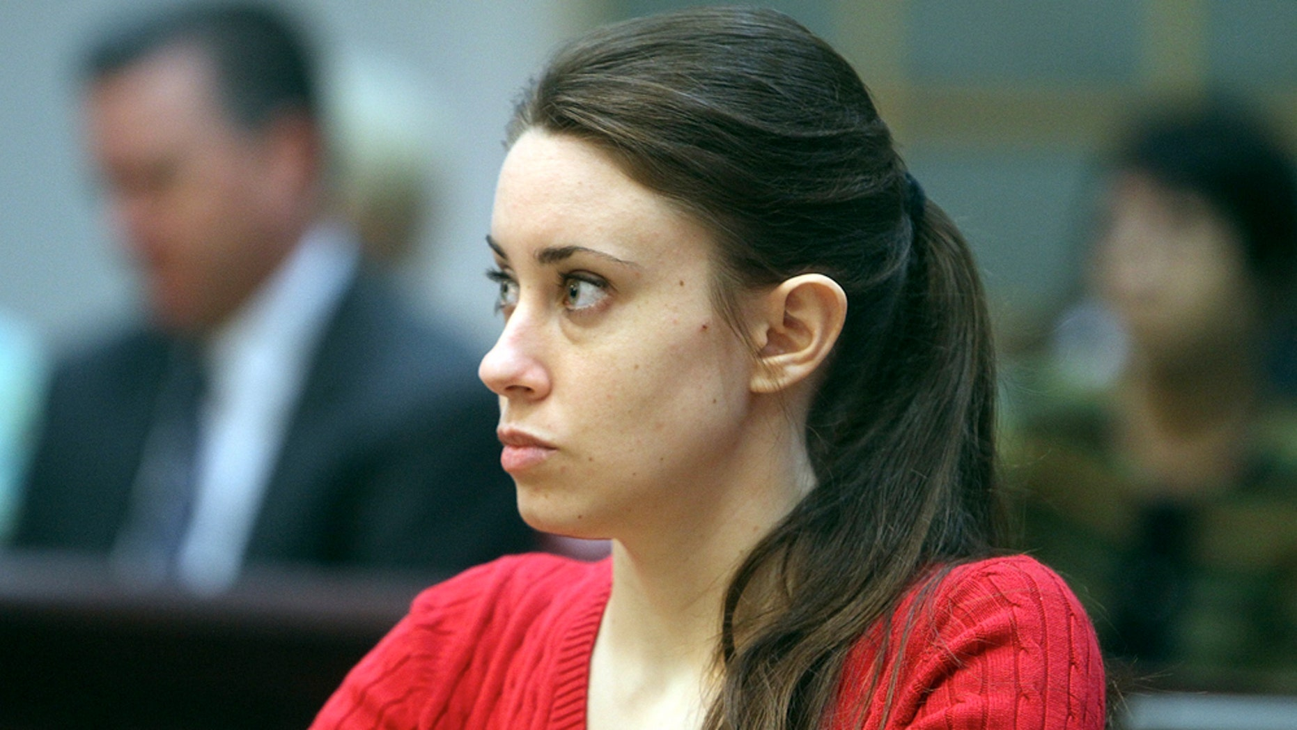 Casey Anthony, 24, sits in a courtroom in Orlando, Fla. for the first of a two-day hearing on a series of motions by the defense and the prosecution for her murder trial.