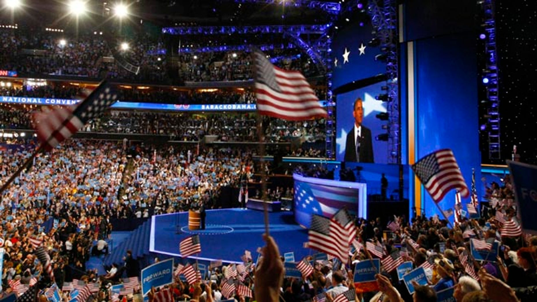 FILE: September 6, 2012: The 2012 Democratic National Convention, in Charlotte, North Carolina.