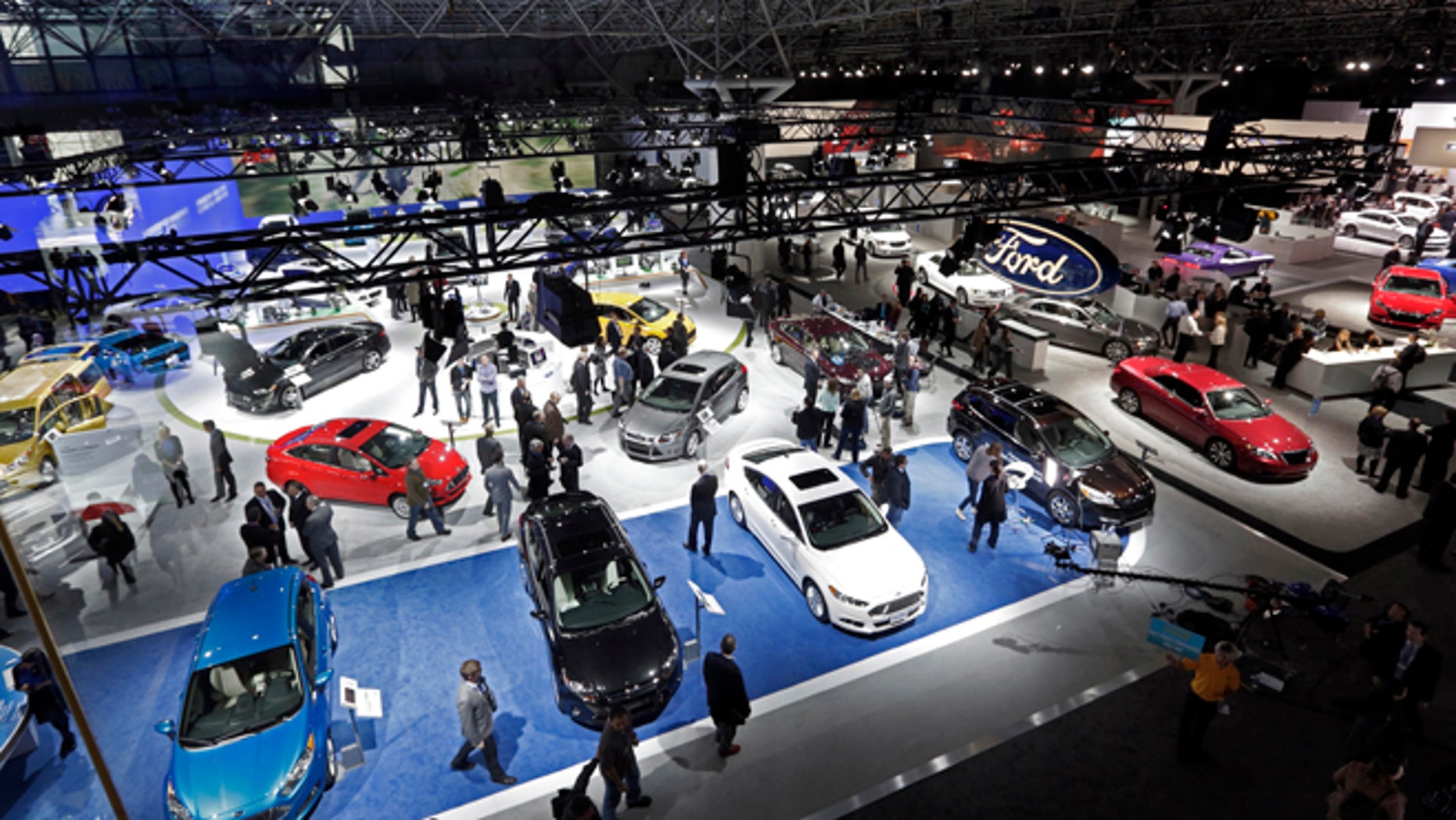 March 27, 2013: Ford cars are among those on display at the New York International Auto Show, in New York's Javits Center.