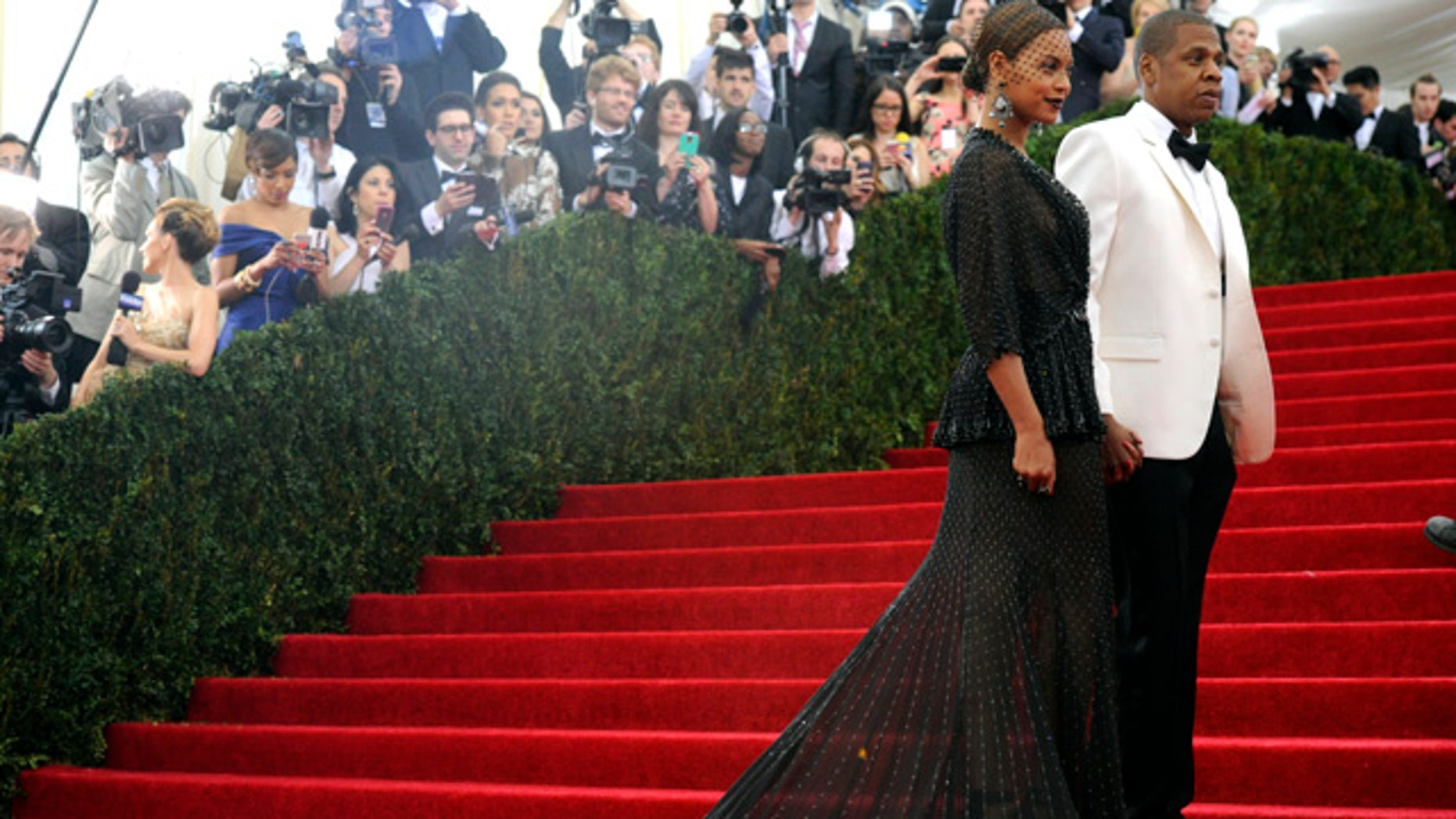 May 5, 2014: Beyonce and Jay-Z attend The Metropolitan Museum of Art's Costume Institute benefit gala celebrating 'Charles James: Beyond Fashion' in New York. (Photo by Charles Sykes/Invision/AP)