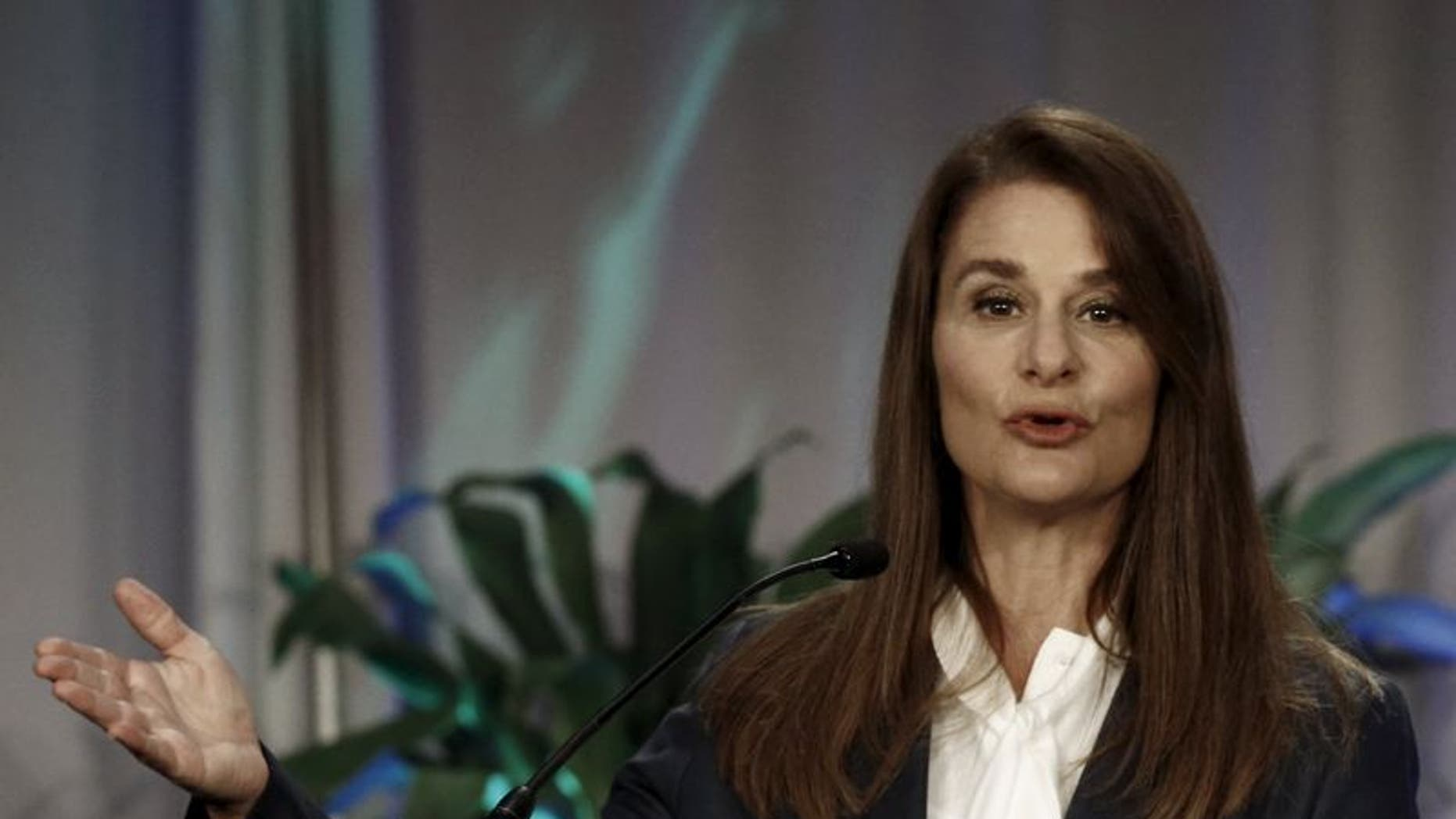 Melinda Gates, co-founder of Bill & Melinda Gates Foundation, gives a speech during the opening plenary of the Global Maternal Newborn Health Conference in Mexico City, Mexico October 19, 2015. REUTERS/Henry Romero