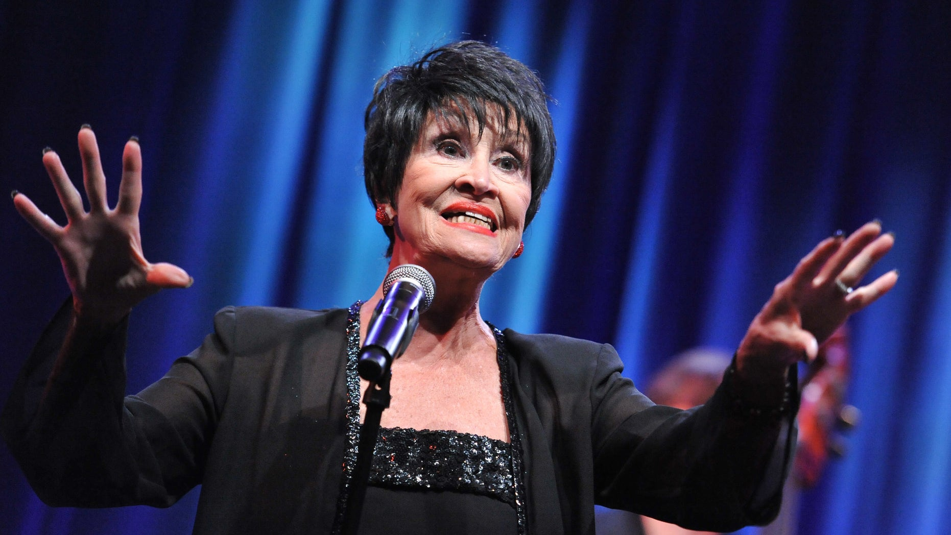 Chita Rivera performs during the âChita Rivera: A Lot of Livinâ to Doâ segment of the PBS 2015 Summer TCA Tour held at the Beverly Hilton Hotel on Sunday, Aug. 2, 2015 in Beverly Hills, Calif. (Photo by Richard Shotwell/Invision/AP)