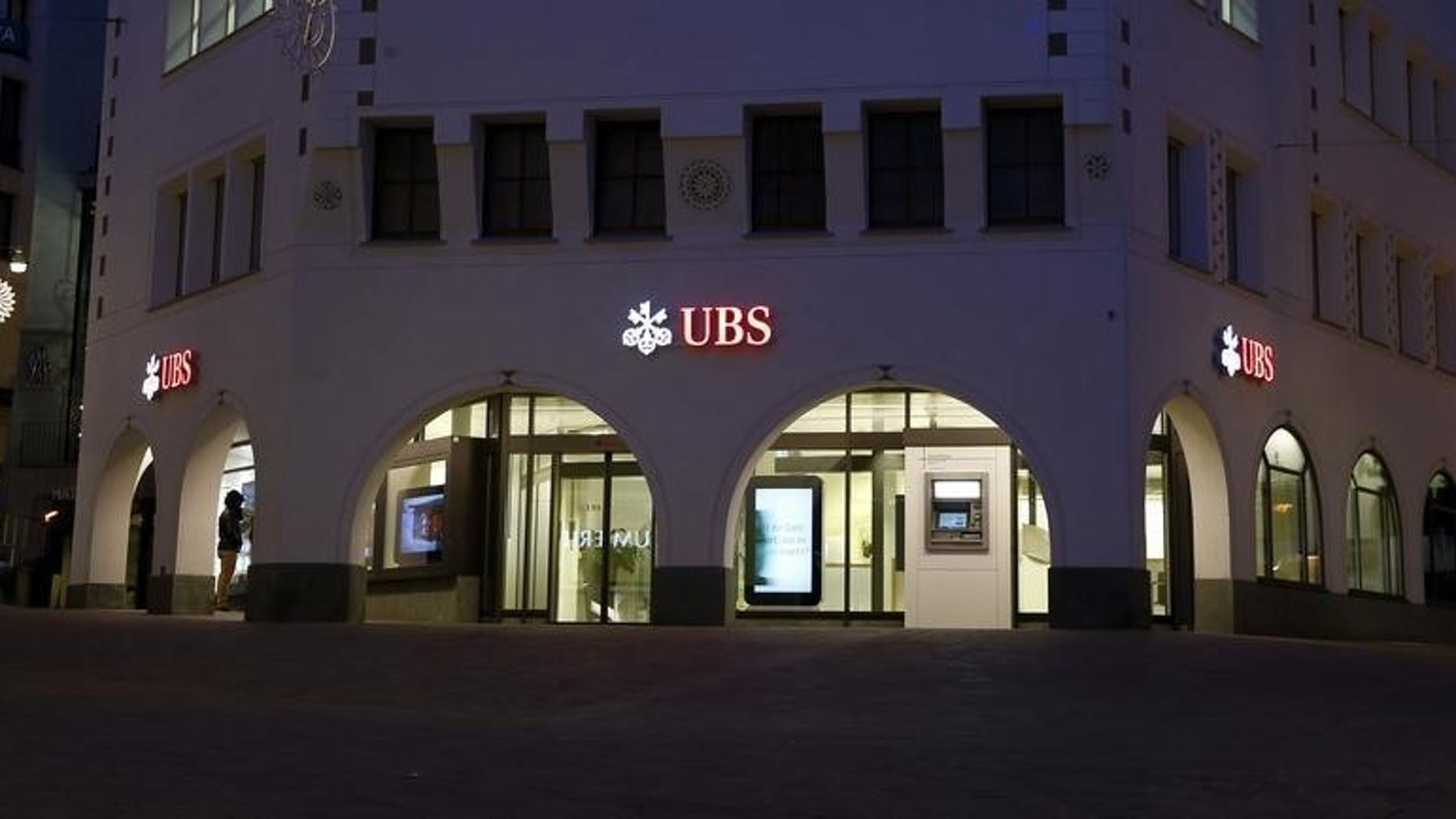 A branch of Swiss bank UBS is seen in St. Moritz