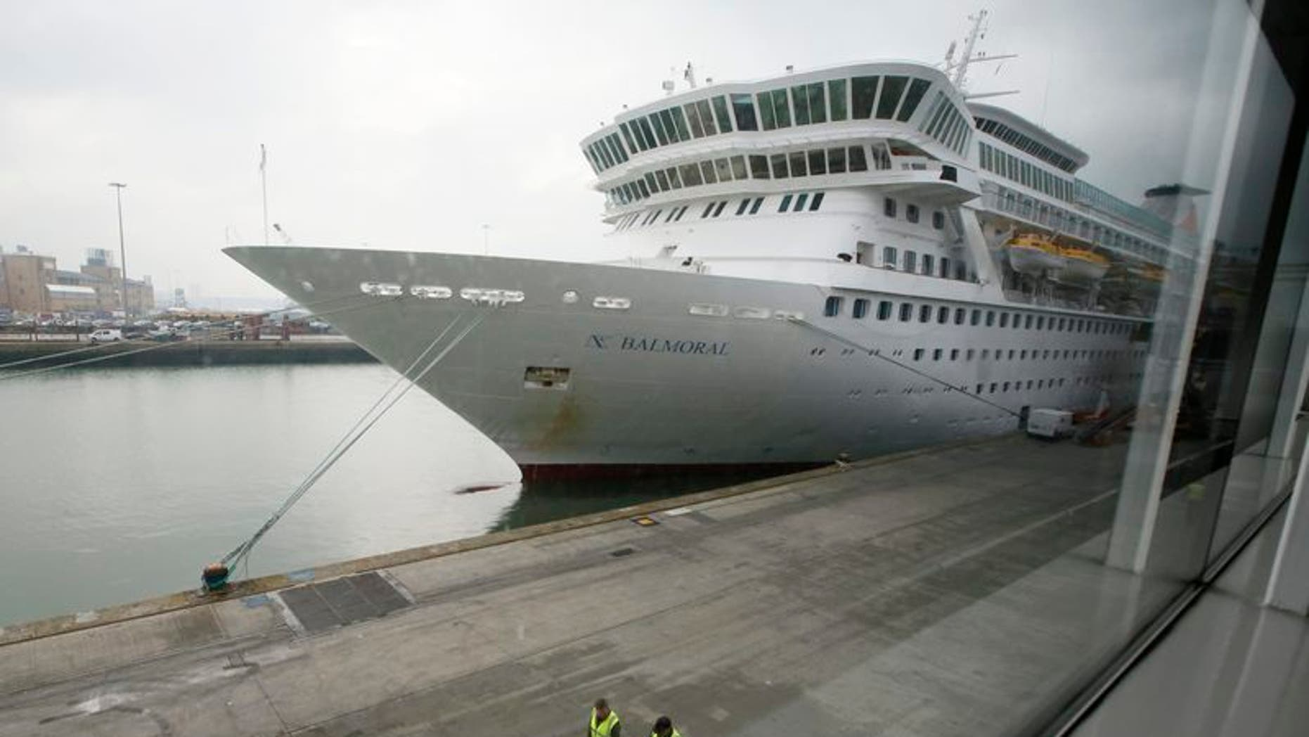 File photo of the cruise ship Balmoral prior to boarding of passengers going on the Titanic Memorial Cruise in Southampton