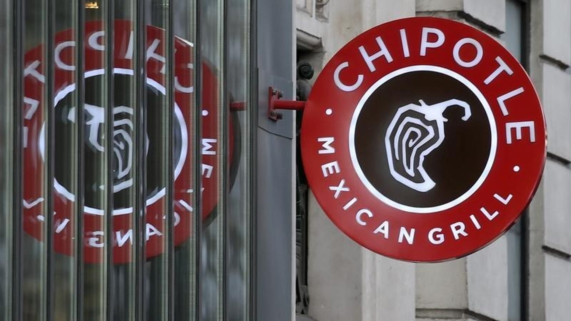 The logo of Chipotle Mexican Grill is seen at a restaurant in Paris