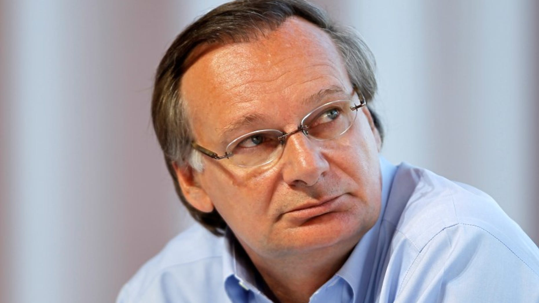 Pierre Nanterme, Chief executive of Accenture's Financial Services operating group, attends the French employers' body MEDEF union summer forum in Jouy-en-Josas