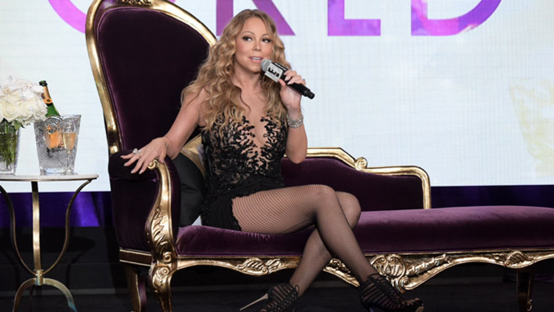 Mariah Carey during the NBC Television Critics Association summer press tour on Aug. 3, 2016, in Beverly Hills, Calif.