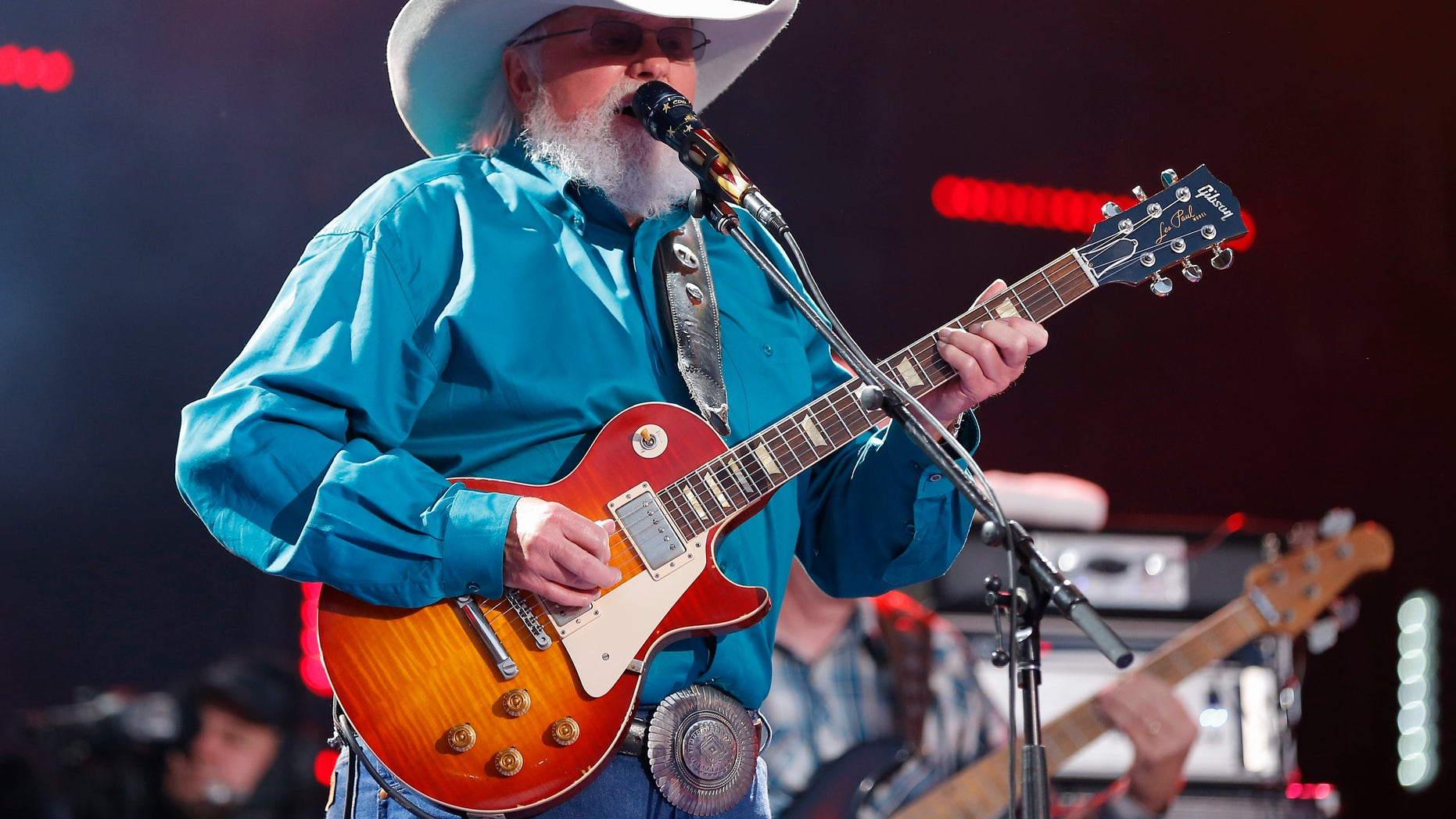 Charlie Daniels performs at the CMA Music Festival at Nissan Stadium on Thursday, June 9, 2016, in Nashville, Tenn. (Photo by Al Wagner/Invision/AP)