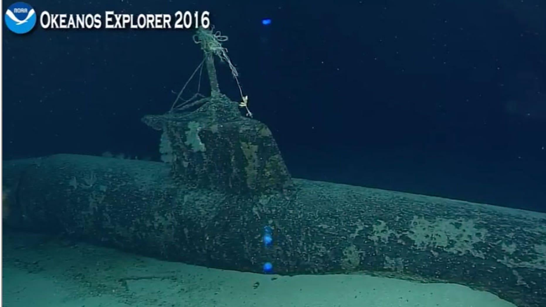 Japanese mini submarine during live dive December 7, 2016.