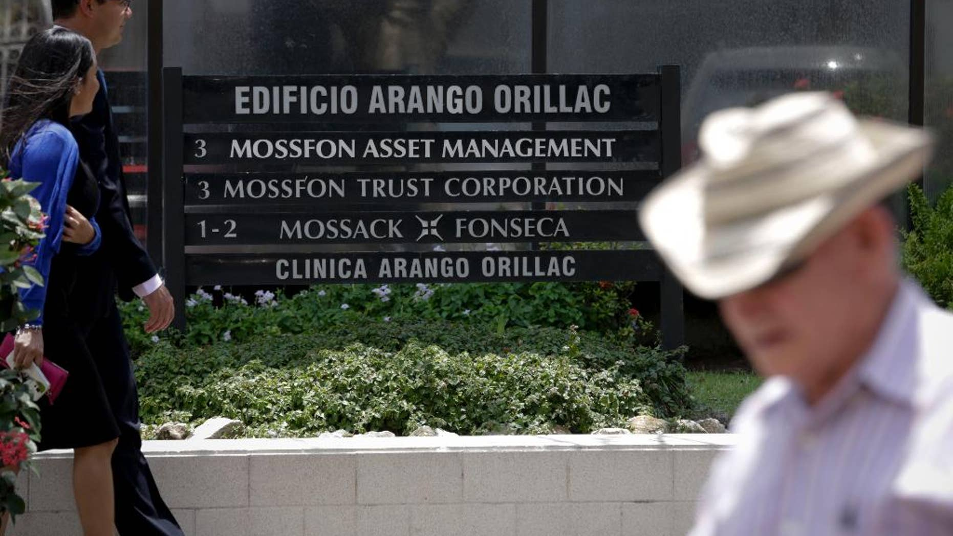 April 5, 2016: People walk past the Arango Orillac Building, which lists the Mossack Fonseca law firm as a tenant, in Panama City, Panama.