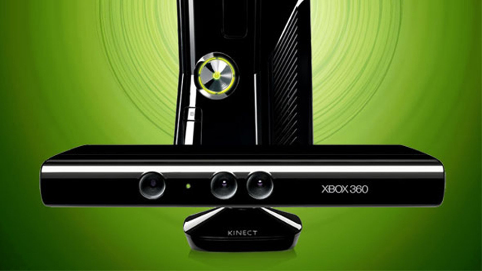 The Microsoft Xbox 360 gaming console, and the new Kinect motion controller.