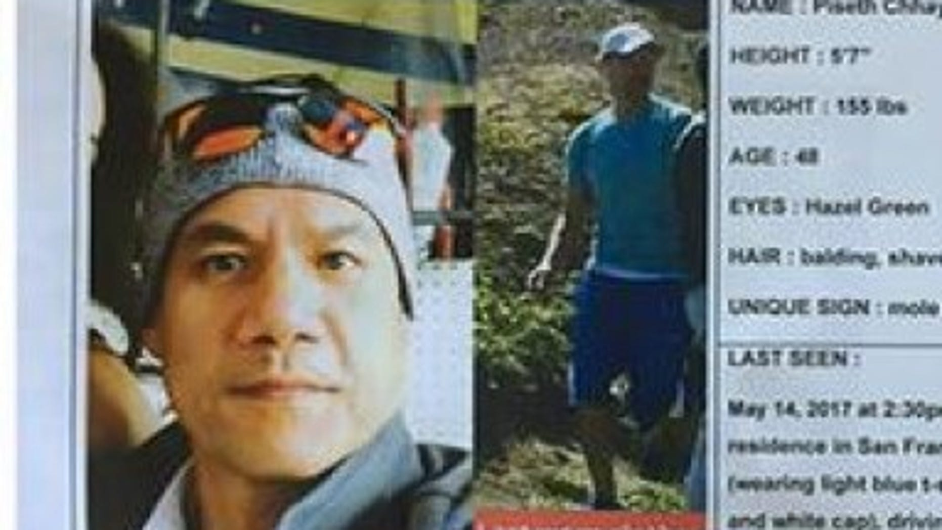 Piseth Chhay, a San Francisco Uber driver, disappeared in May. Investigators believe the human remains discovered at the Hayward warehouse are possibly linked to Chhay. (GoFundMe)
