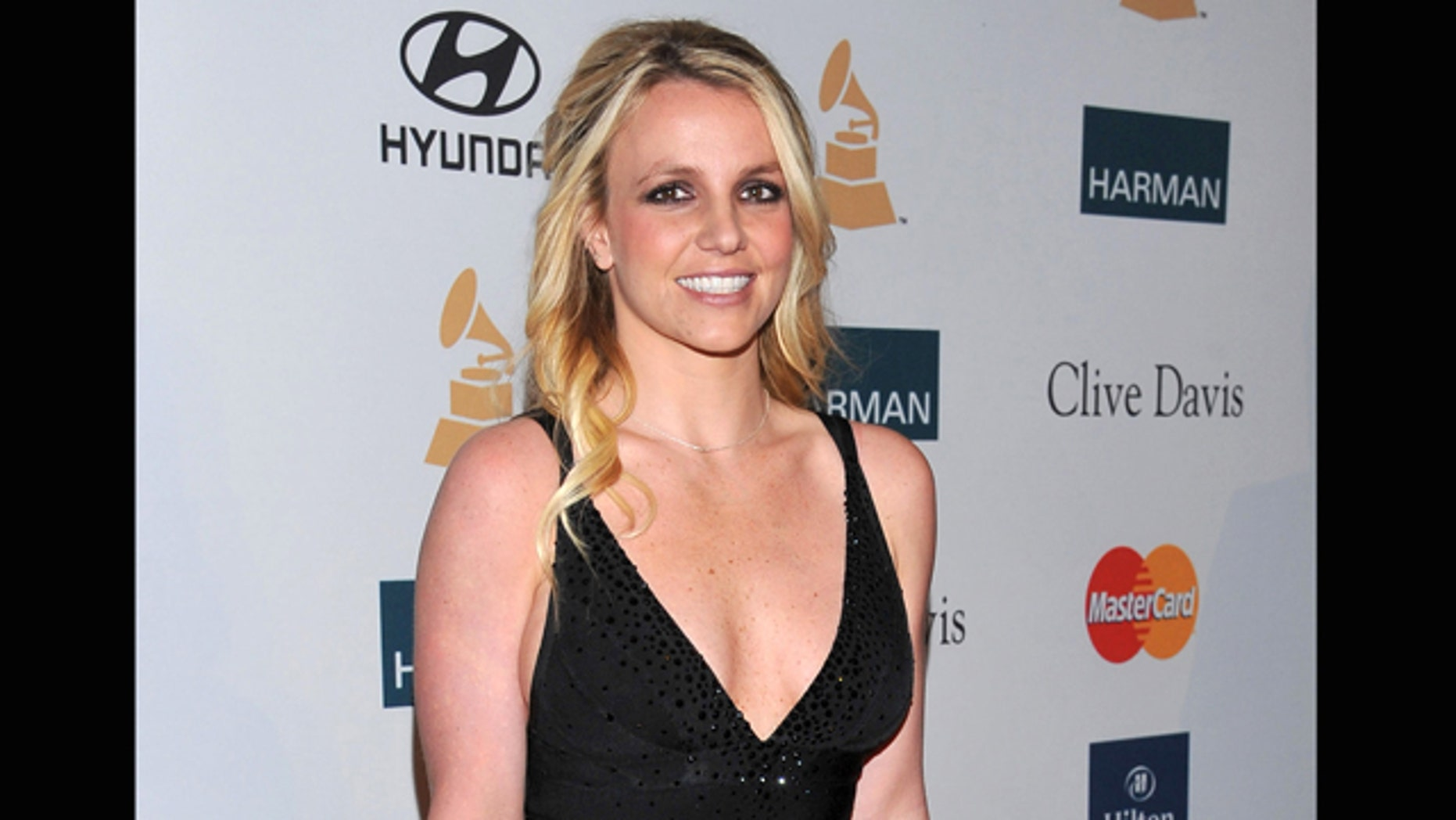 Feb. 11, 2012: File photo, singer Britney Spears arrives at the Pre-GRAMMY Gala & Salute to Industry Icons with Clive Davis honoring Richard Branson in Beverly Hills, Calif.