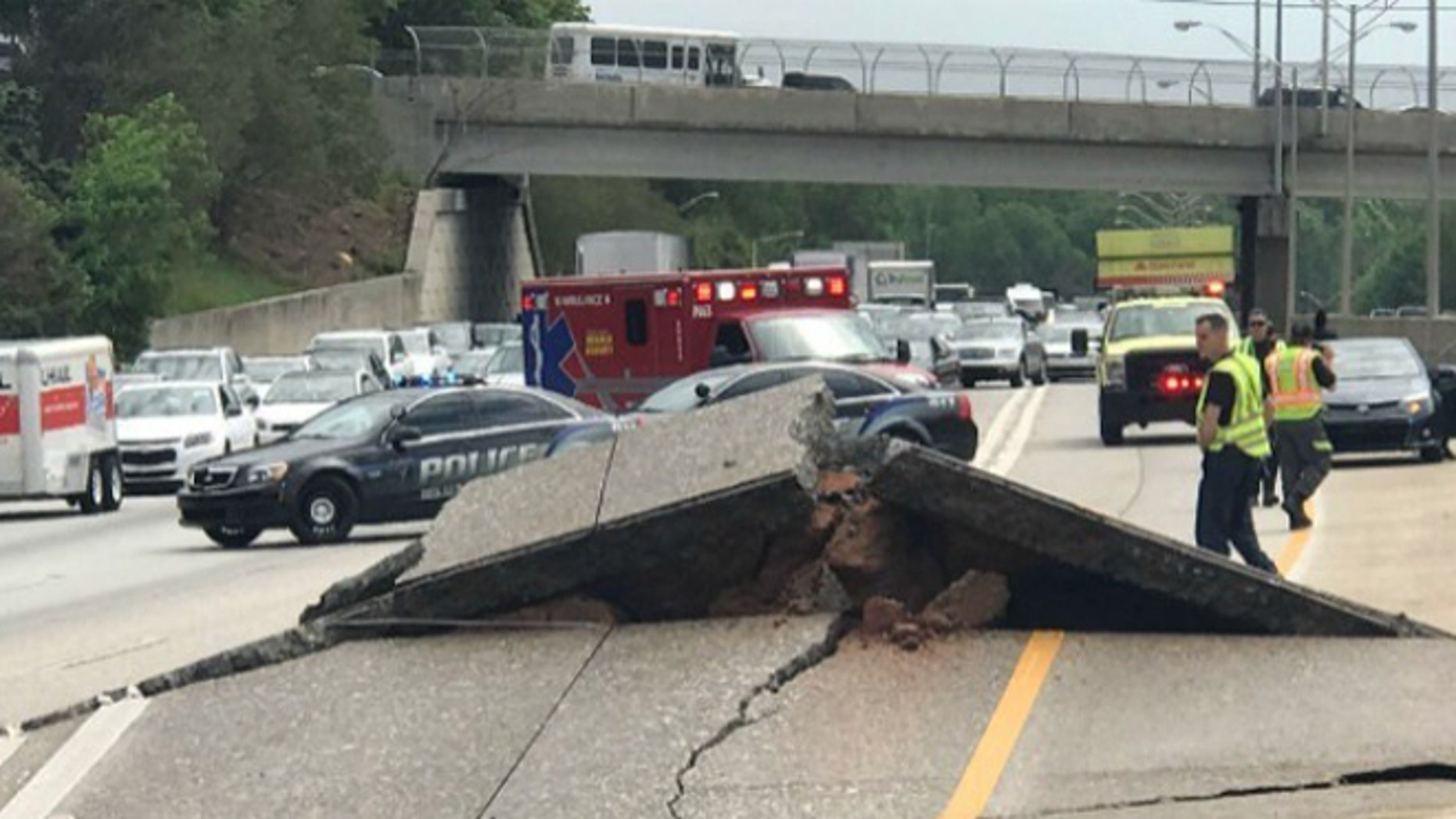 A portion of I-20 is shut down after roadwork caused part of the interstate to buckle.