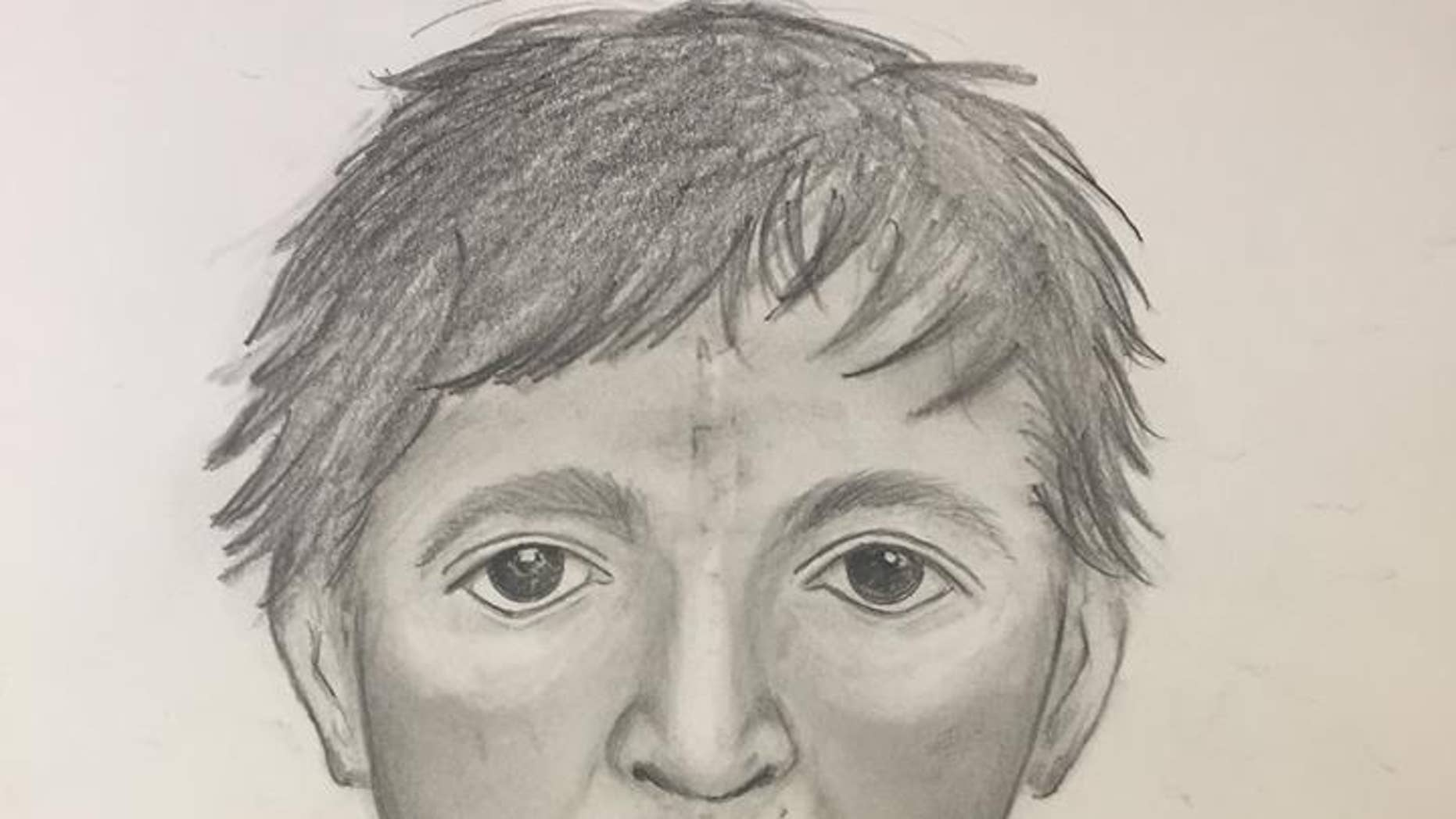 A composite sketch of the suspect in the attack on a jogger in Fort Worth, Texas.