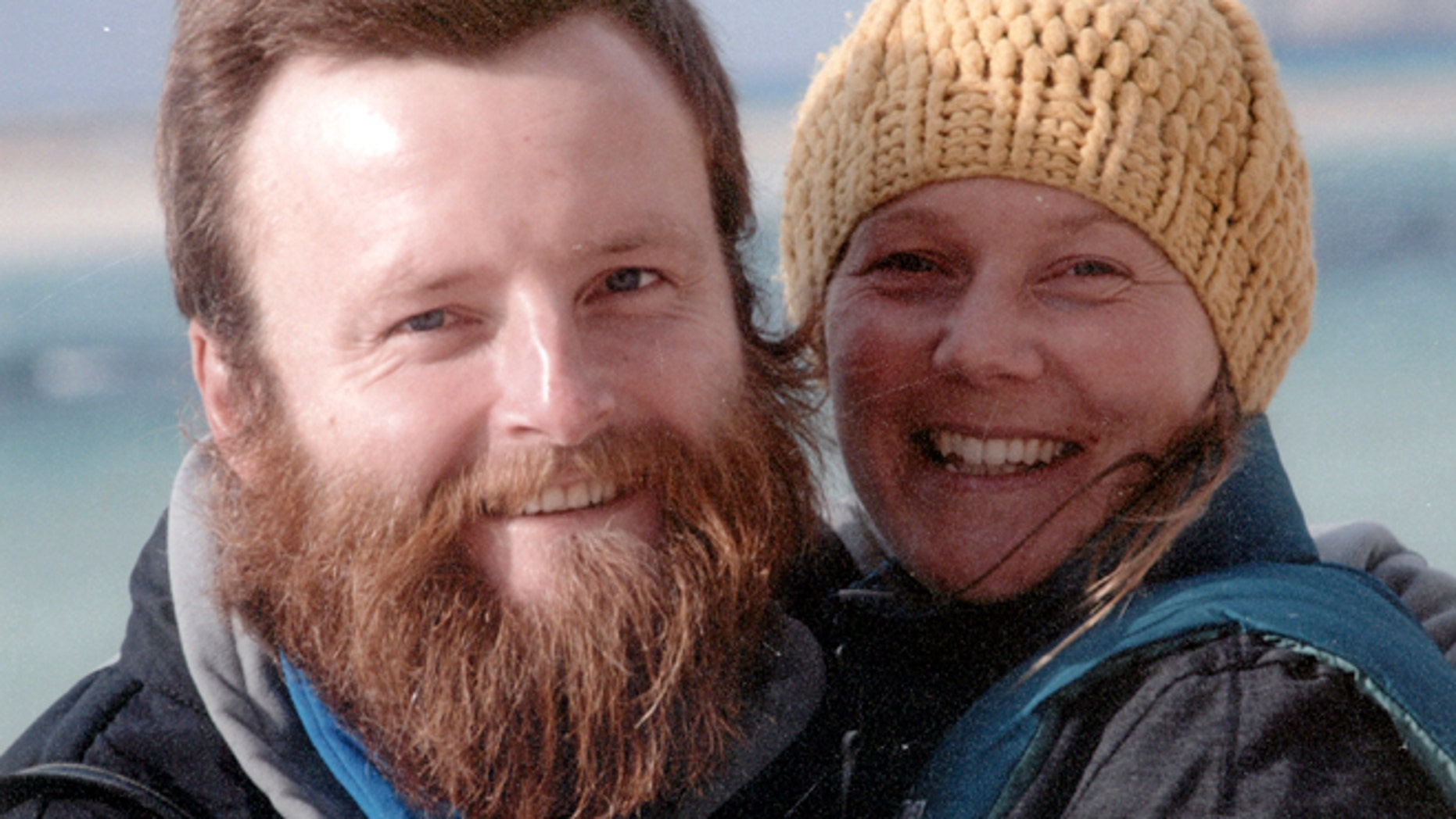 In this undated family photo supplied Monday Feb. 18, 2013, showing British couple Peter Root and Mary Thompson, both 34, who were killed in Thailand Wednesday Feb. 13, 2013, in a road accident during their round-the-world cycling odyssey.