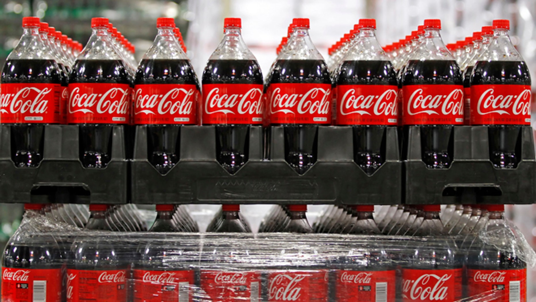 March 9, 2011: Bottles of Coca-Cola, which will be delivered to stores, are seen in a warehouse at the Swire Coca-Cola facility in Draper, Utah.