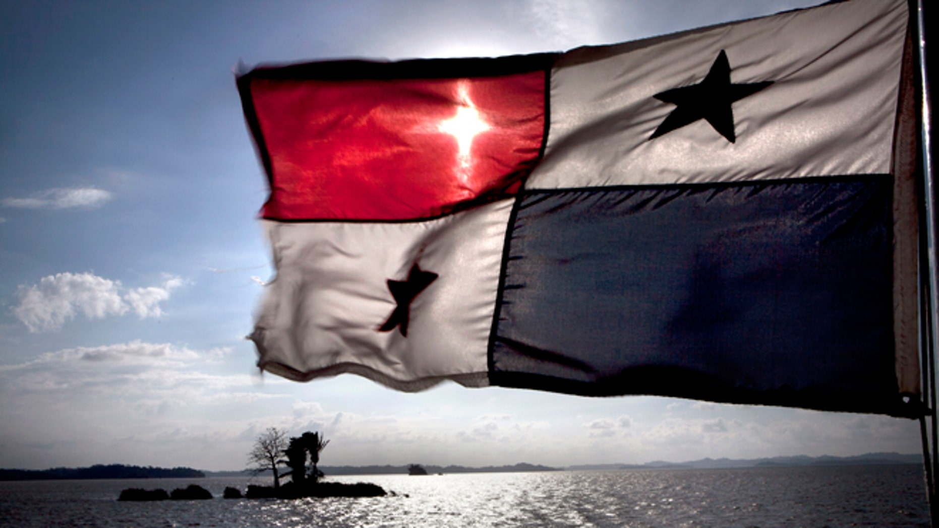 A flag flying from a ship on the Panama Canal, 5th January 2012. (Photo by Francis Tsang/Cover/Getty Images)
