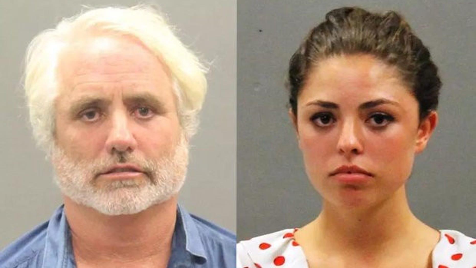 "Matthew ""Max"" Kennedy, left, and Caroline Kennedy were taken into custody on Sunday. (Barnstable Police Department)"
