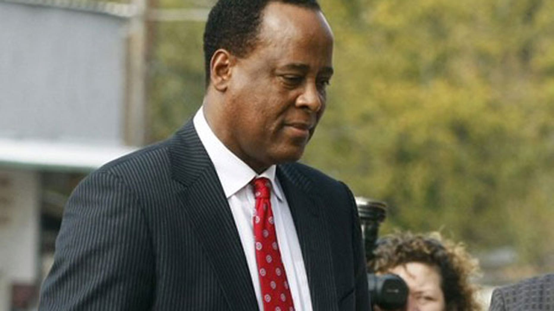 FILE: Dr. Conrad Murray is seen outside a Los Angeles courtroom in this 2010 file photo.