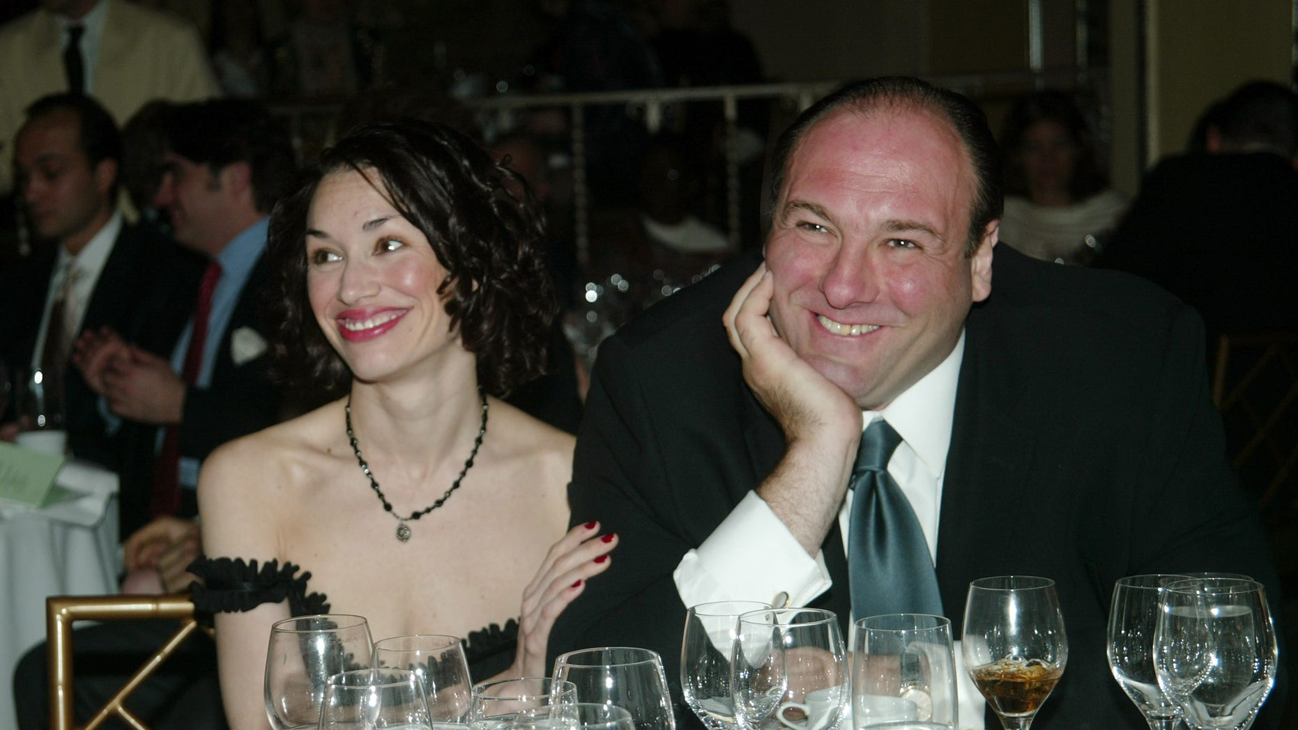 James Gandolfini and Lora Somoza at the Annual Benefit for the African Rainforest Conservancy April 5, 2003 in New York City.