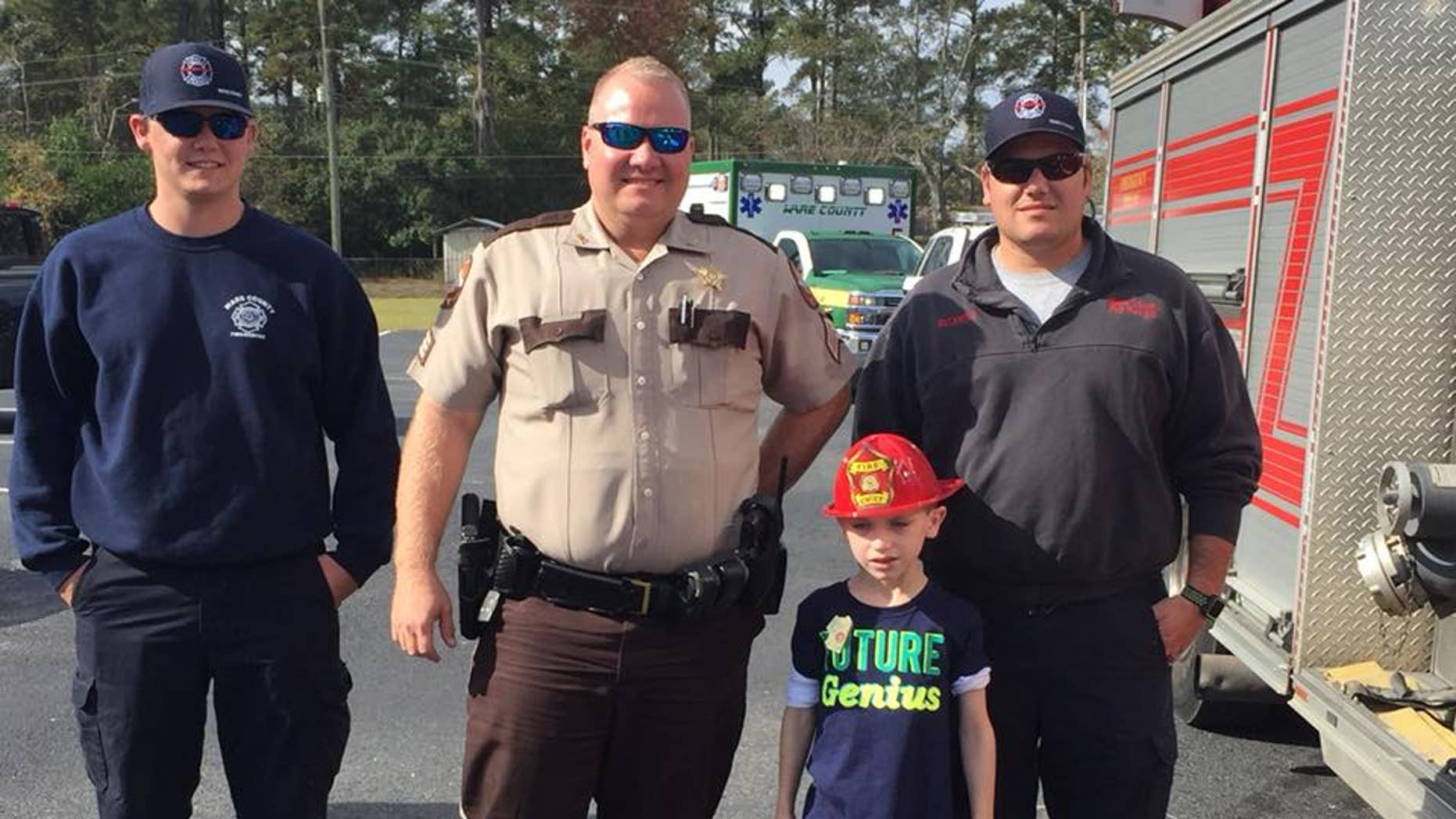 The Ware County Emergency Department surprised Holden Bridges for his 7th birthday.