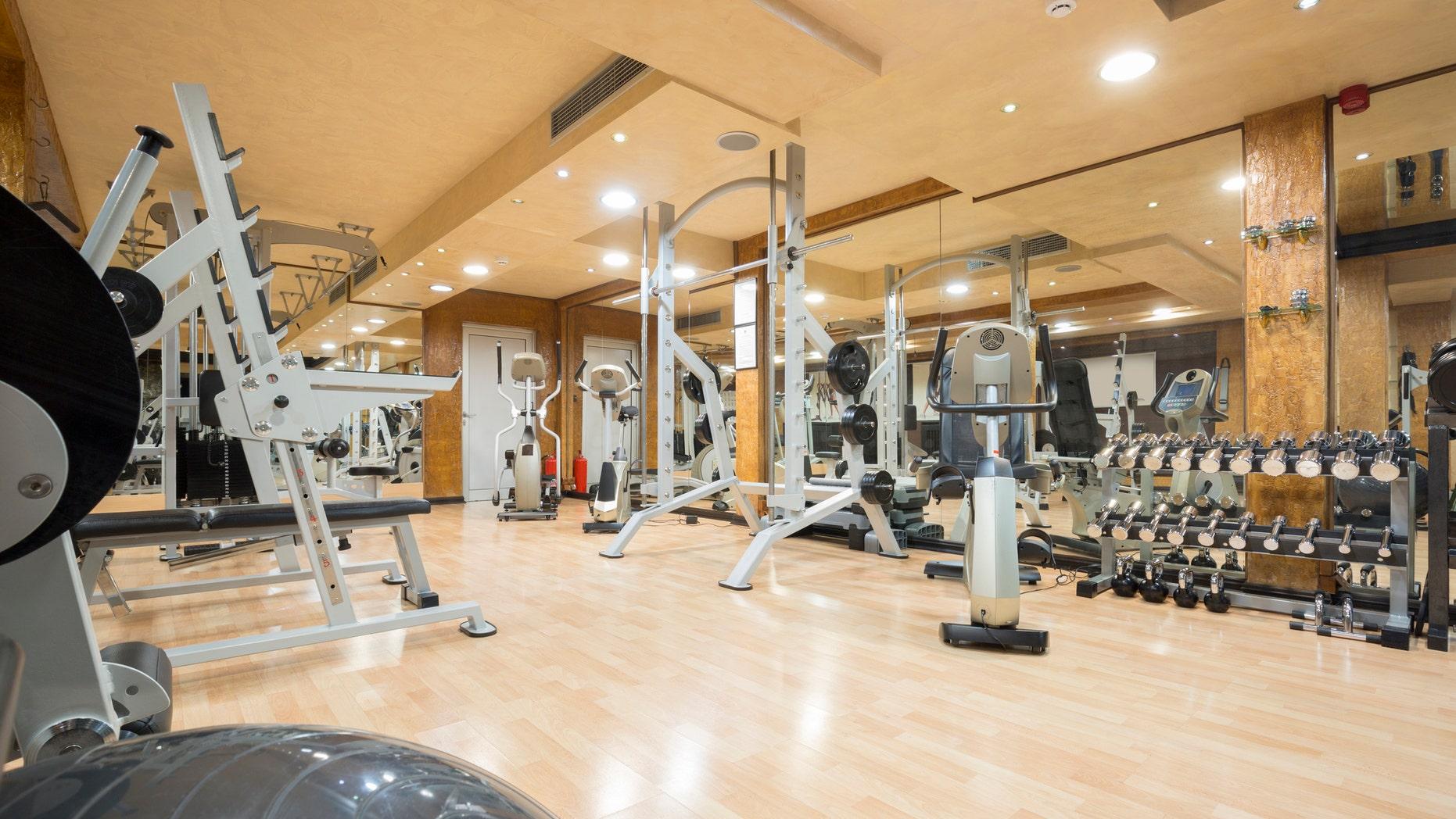 Interior of a modern gym