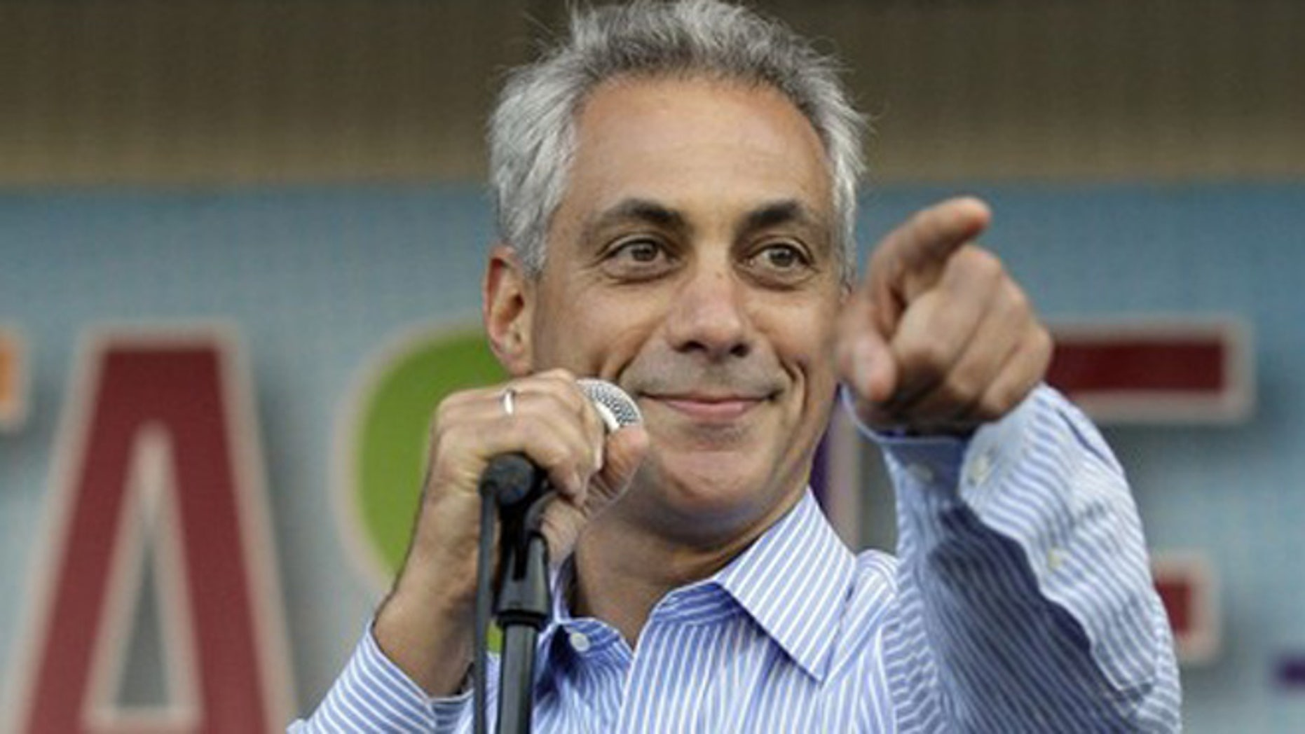 July 11, 2012: Chicago Mayor Rahm Emanuel speaks during Taste of Chicago.