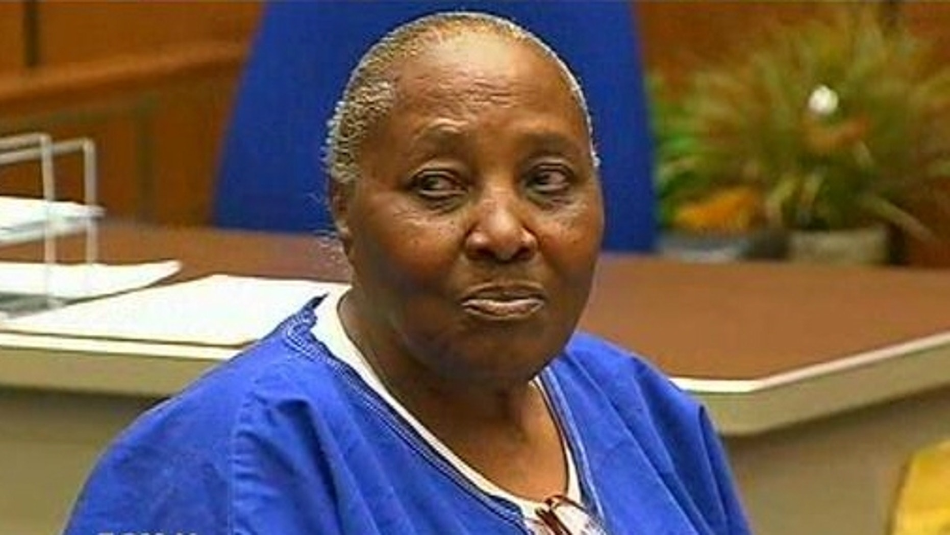 March 24, 2014: Mary Virginia Jones at a hearing in Los Angeles Superior Court (MyFoxLA.com)