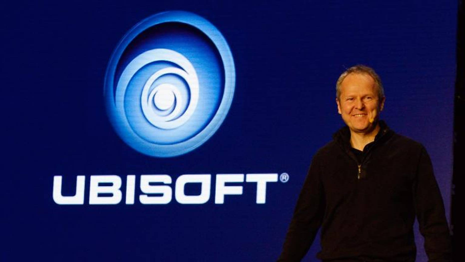Yves Guillemot, co-founder and CEO of Ubisoft, speaks on June 10, 2013 in Los Angeles, California.