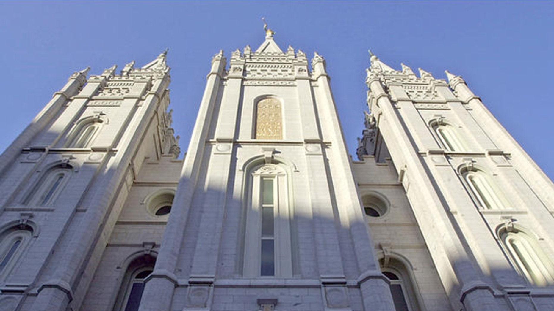 FILE: The Mormon Temple, Salt Lake City, Utah.