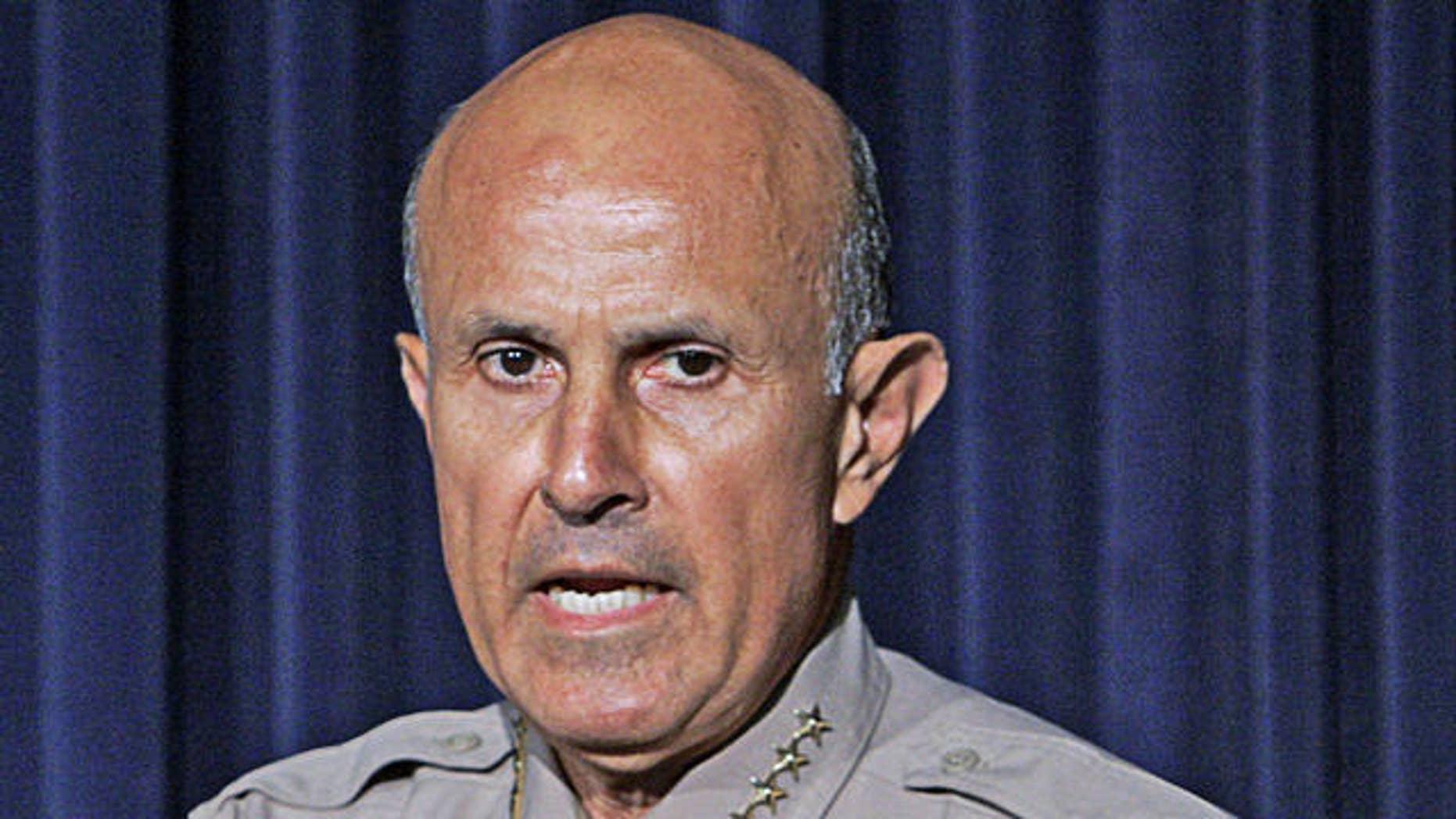 Los Angeles County Sheriff Lee Baca.