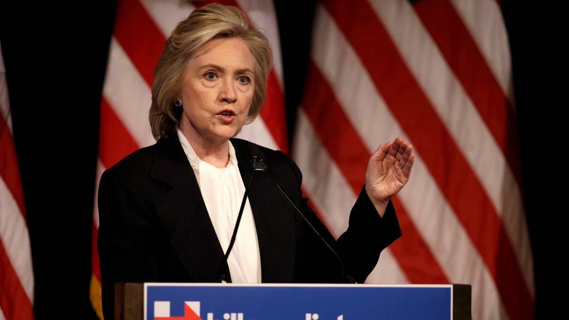 Hillary Rodham Clinton at a campaign event in New York, Monday, July 13, 2015.