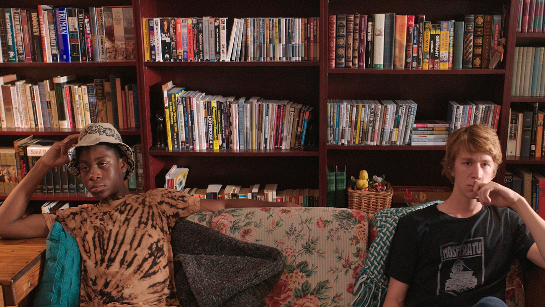 """RJ Cyler, left, and Thomas Mann in a scene from the film """"Me and Earl and the Dying Girl."""""""