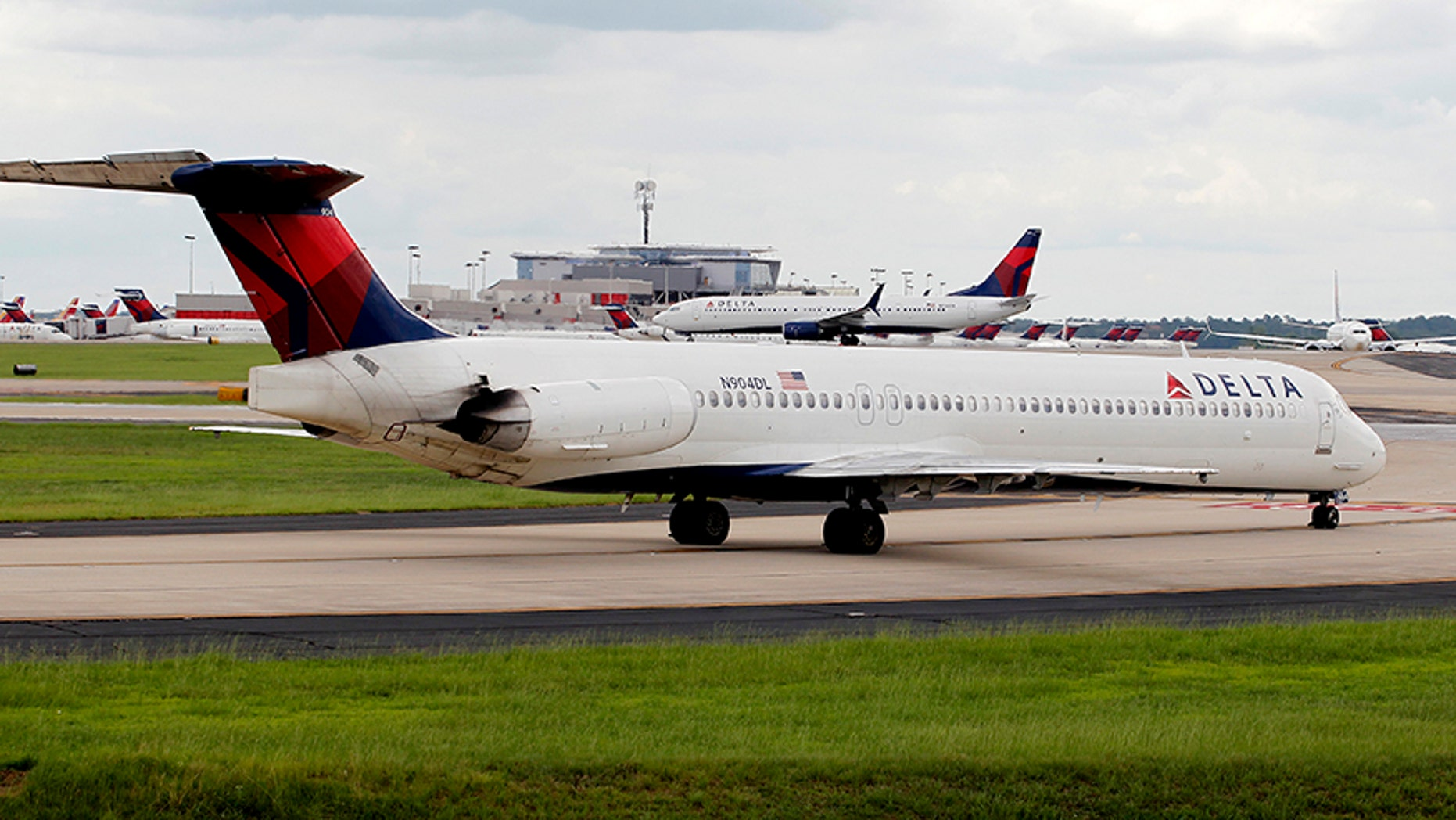 Delta aircraft at Hartsfield-Jackson International Airport in Atlanta, Ga.