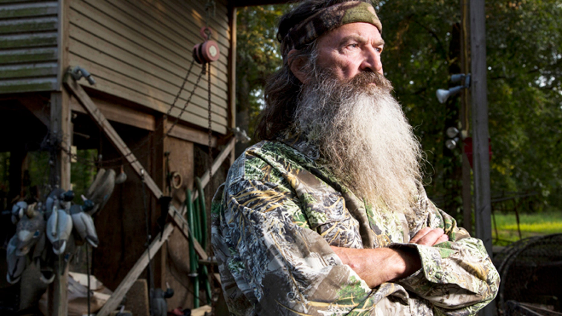 "Phil Robertson in A&E's ""Duck Dynasty."""