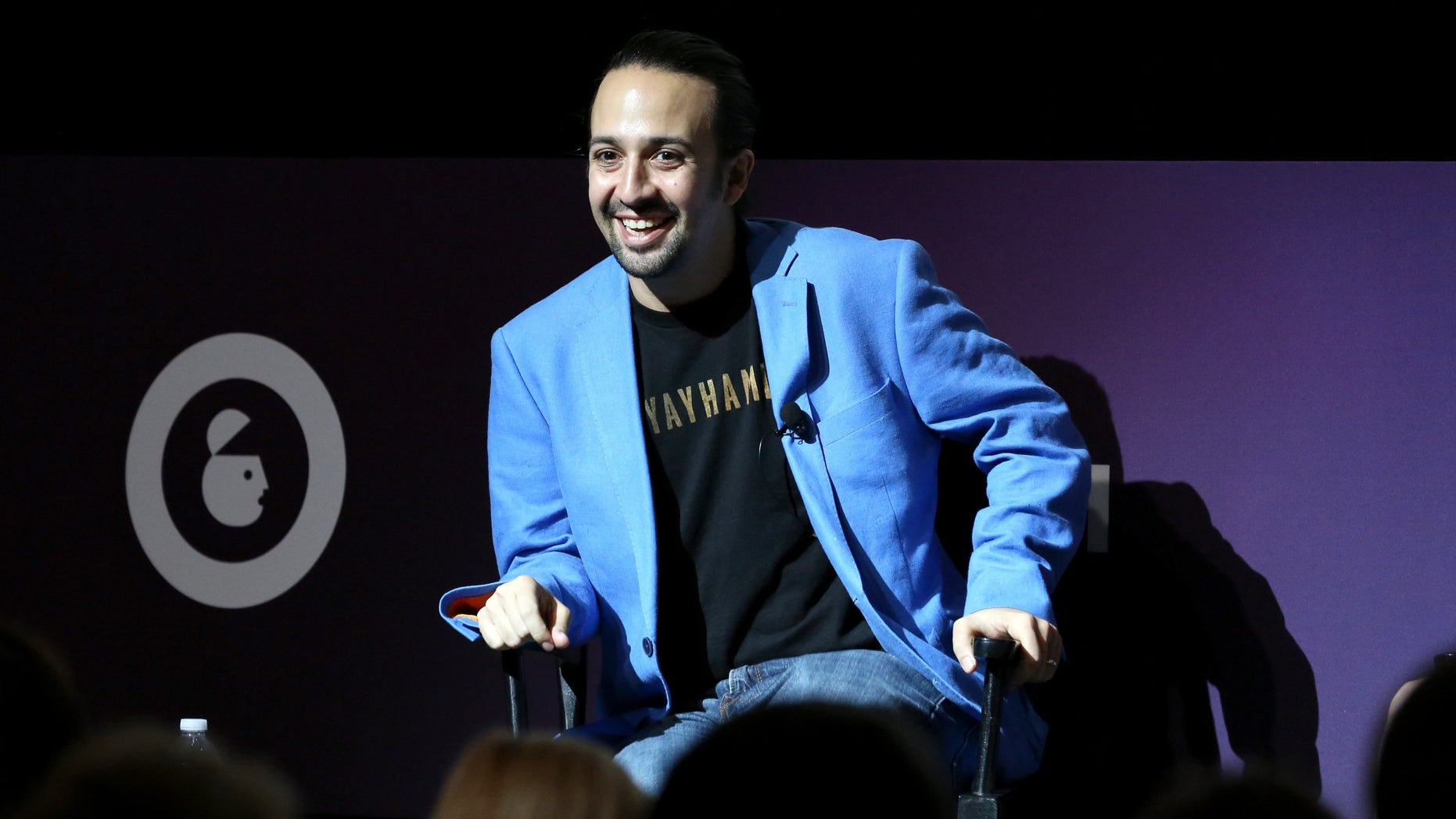 NEW YORK, NY - SEPTEMBER 29:  Tony, Grammy and Emmy award winning American actor and composer Lin-Manuel Miranda speaks onstage at the Lin-Manuel Miranda Live panel during Advertising Week 2015 AWXII at the Hard Rock Cafe New York on September 29, 2015 in New York City.  (Photo by Robin Marchant/Getty Images for AWXII)
