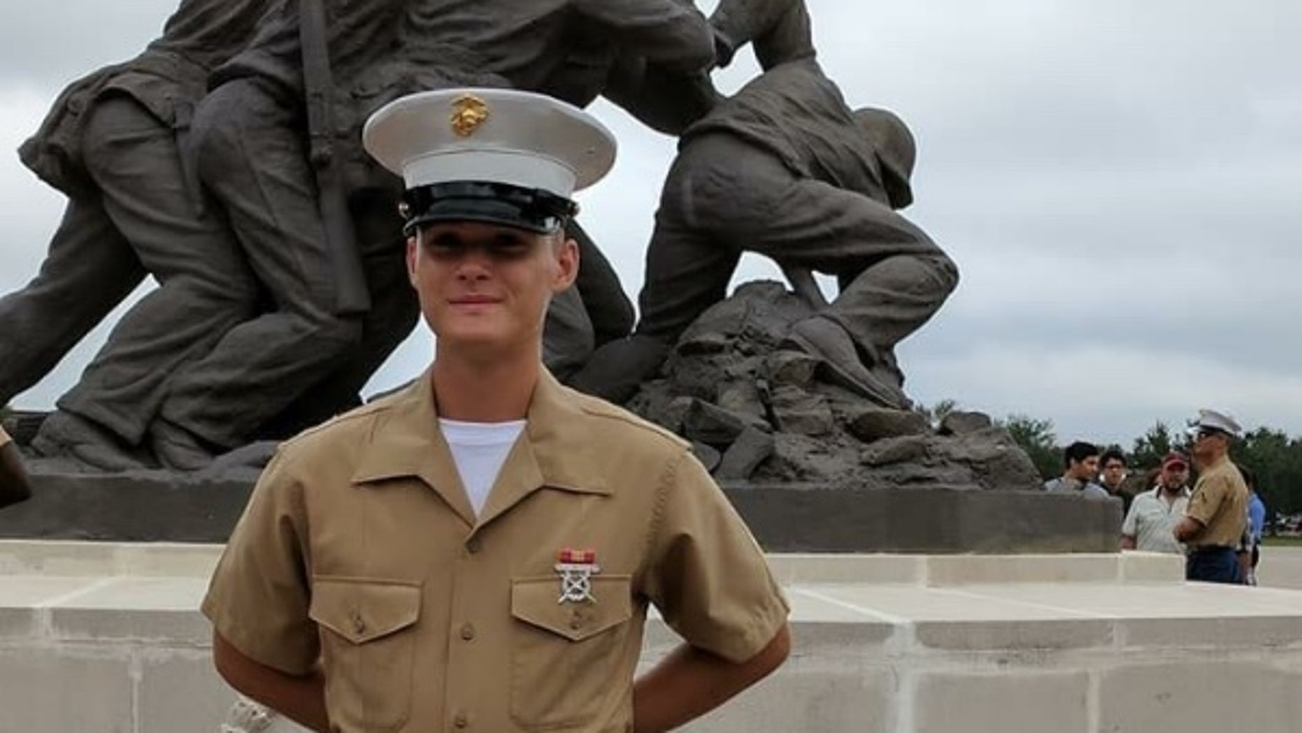 Pfc. Ethan Andrew Barclay-Weberpal, 18, was fatally stabbed Jan. 16, by fellow Marine Raymond Begay, in what Begay contends was an accident, authorities say.