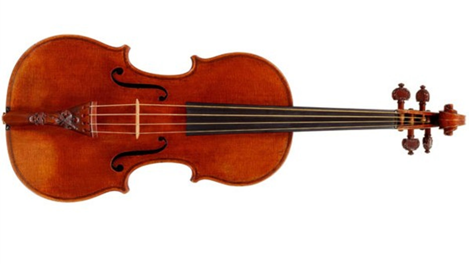 This 1721 Stradivarius violin sold for $16.33 million at auction in 2011. (Reuters)