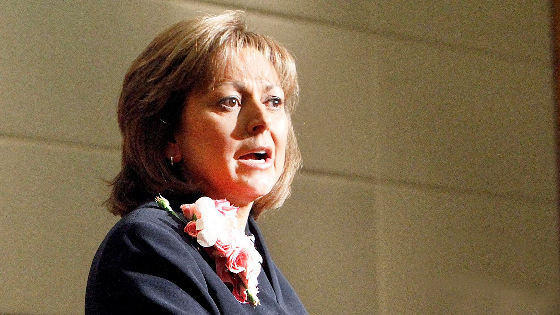 Republican Gov. Susana Martinez outlines her legislative priorities to New Mexico's 112 lawmakers on Tuesday, Jan.  18, 2011 in Santa Fe, N.M.  Martinez is reaching out to Democrats as the Legislature returns to work. Martinez used her State of the State speech Tuesday to call for a bipartisan approach to New Mexico's pressing problems, including a $400 million budget shortfall.  (AP Photo/The New Mexican,  Jane Phillips)