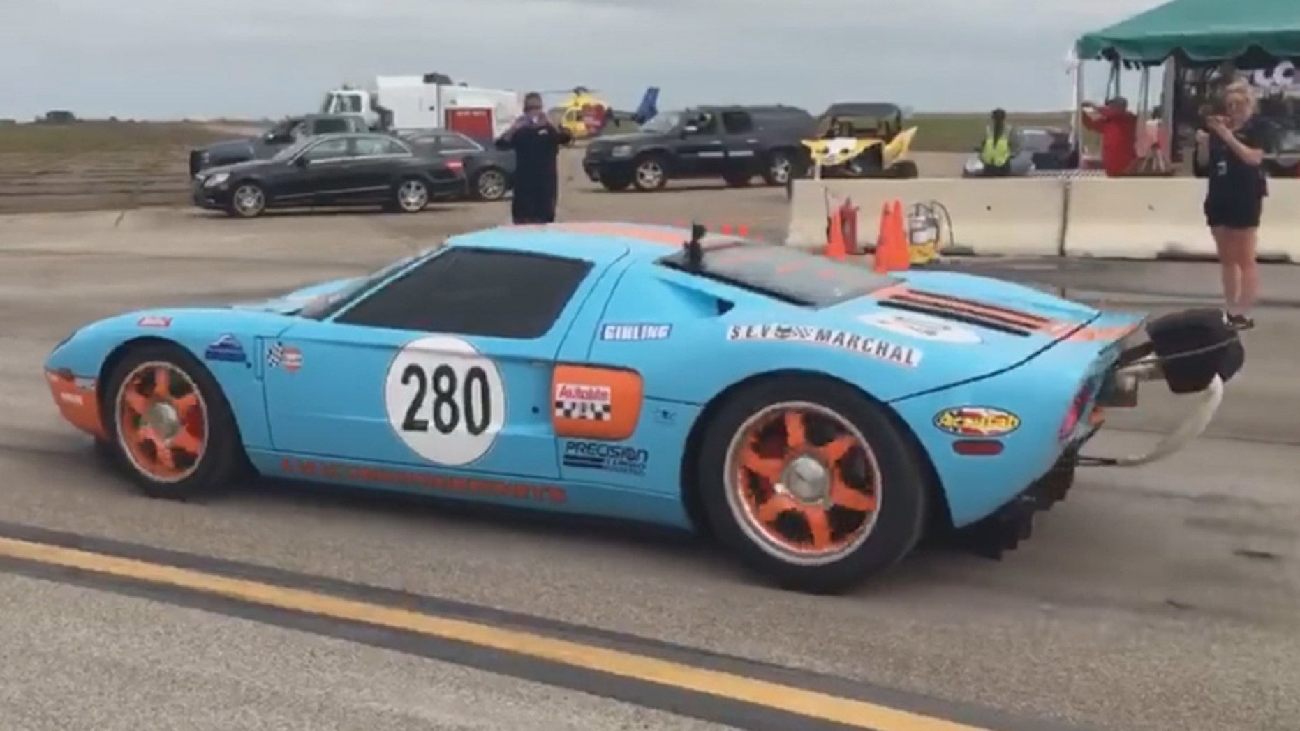 Ford Gt Sets Standing Mile Speed Record At   Mph