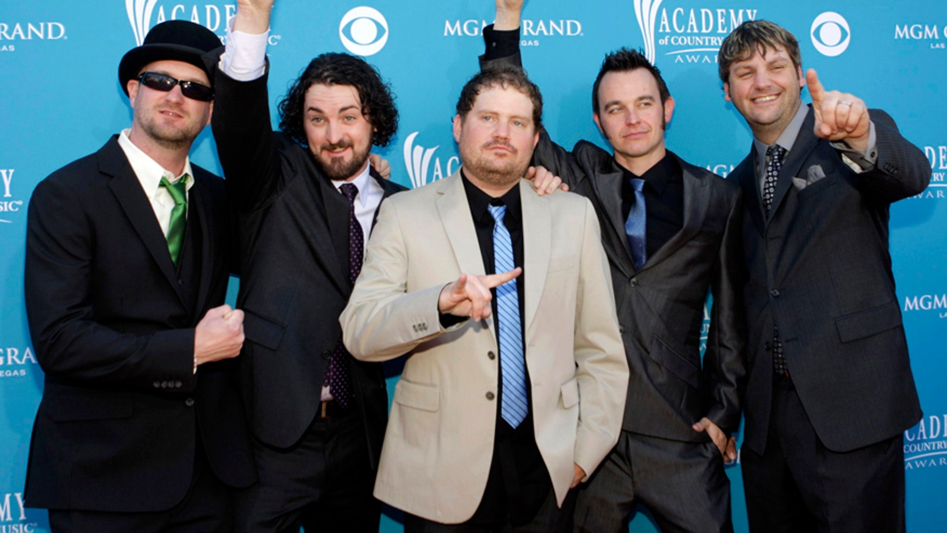 The members of the Randy Rogers Band arrive at the 45th annual Academy of Country Music Awards in Las Vegas, Nevada April 18, 2010.