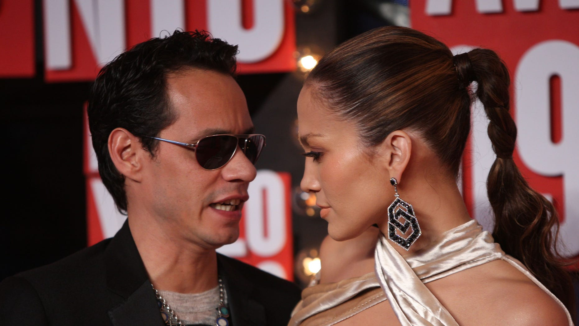 Sept. 13, 2009:  Marc Anthony  and Jennifer Lopez arrive at the 2009 MTV Video Music Awards at Radio City Music Hall  in New York City.