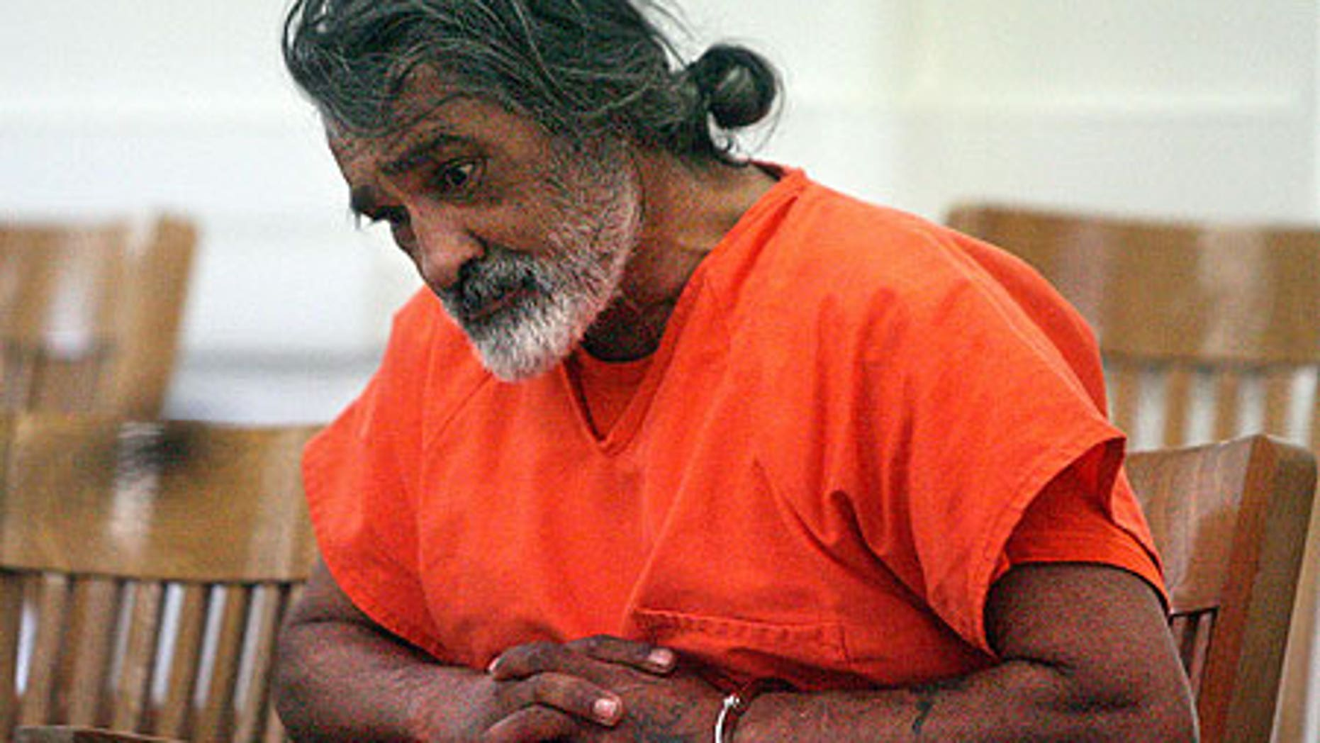 Dec. 29, 2008: Robert E. Aragon, 55, appeares in court in Shoshone, Idaho.